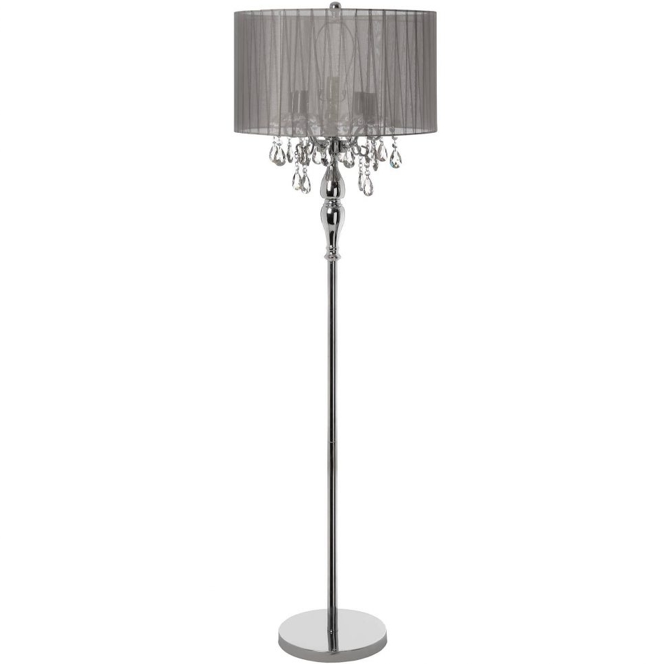 2017 Wonderful Crystal Chandelier Floor Lamp Standing Lamps Covers Shades Inside Chandelier Standing Lamps (View 2 of 15)