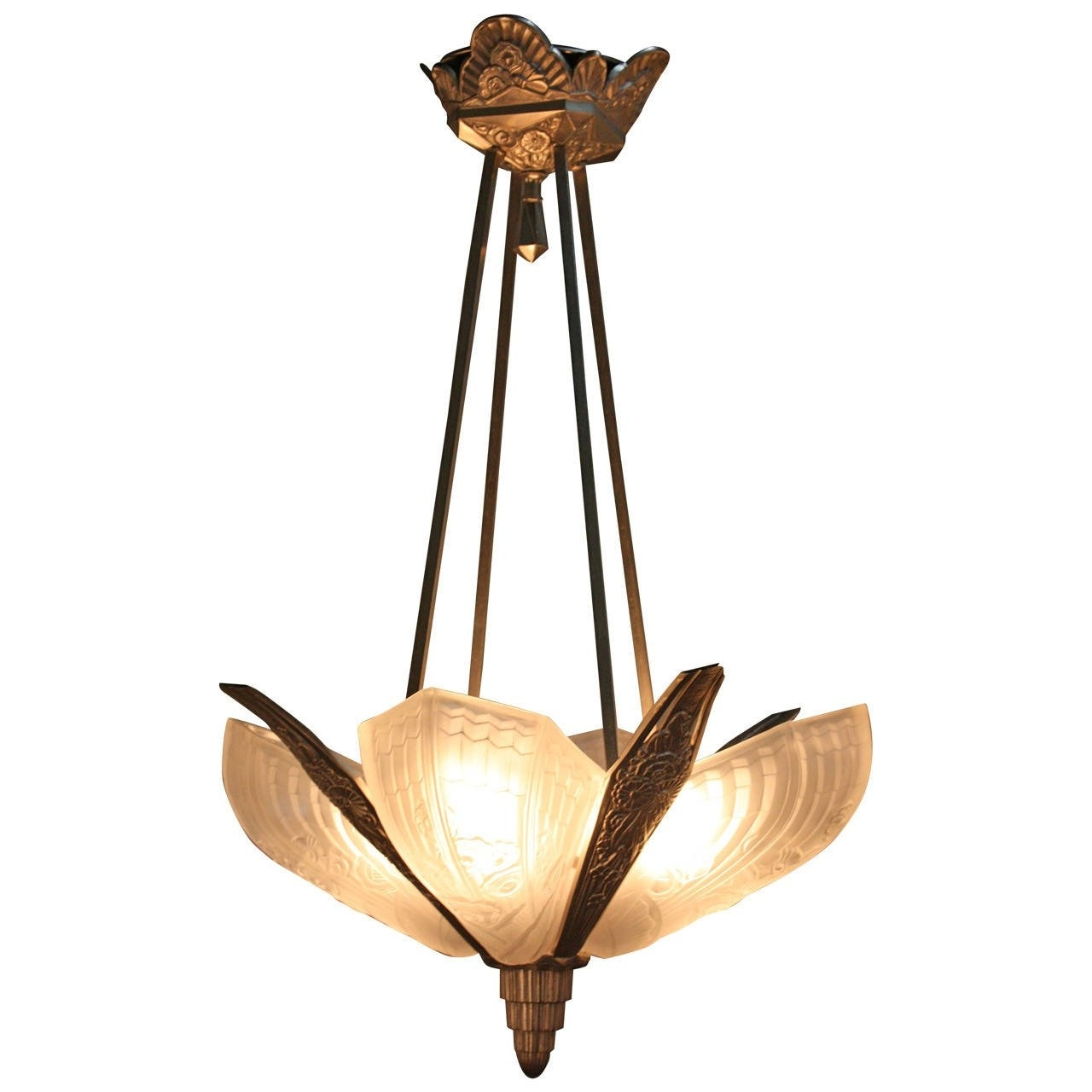 2018 1920S Art Deco Chandelier At 1Stdibs Pertaining To Art Deco Chandelier (View 4 of 15)