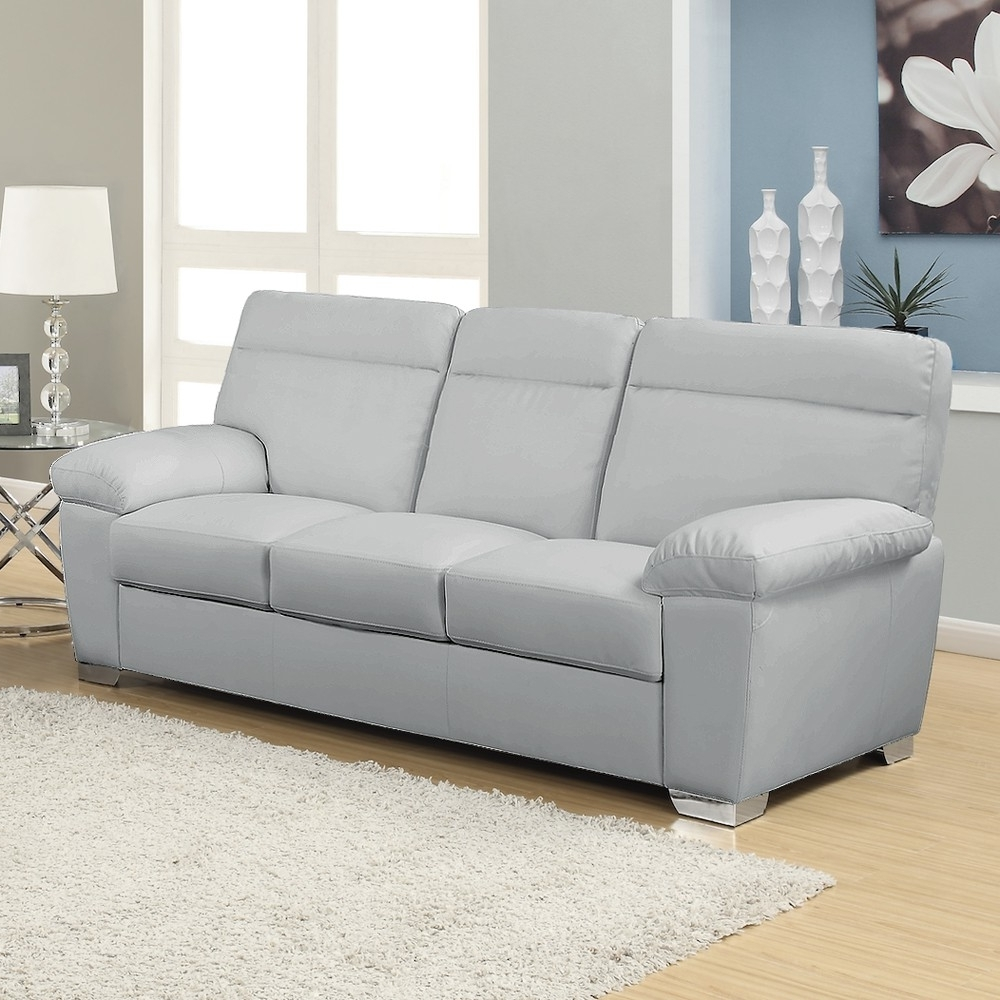 2018 Alto Italian Inspired High Back Leather Light Grey Sofa Collection With Regard To 3 Seater Leather Sofas (View 14 of 15)