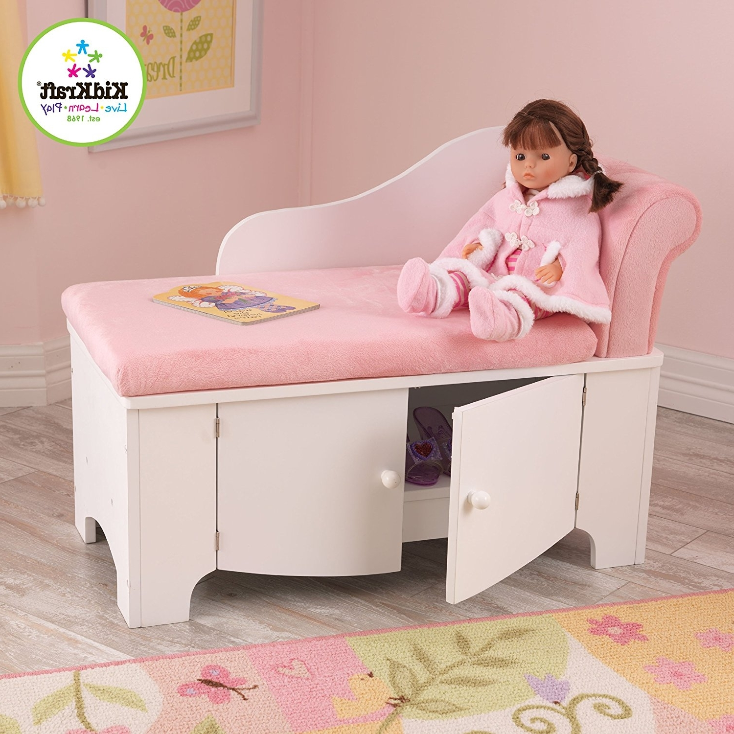 2018 Amazon: Kidkraft Girl's Princess Chaise Lounge: Toys & Games Regarding Kids Chaise Lounges (View 13 of 15)