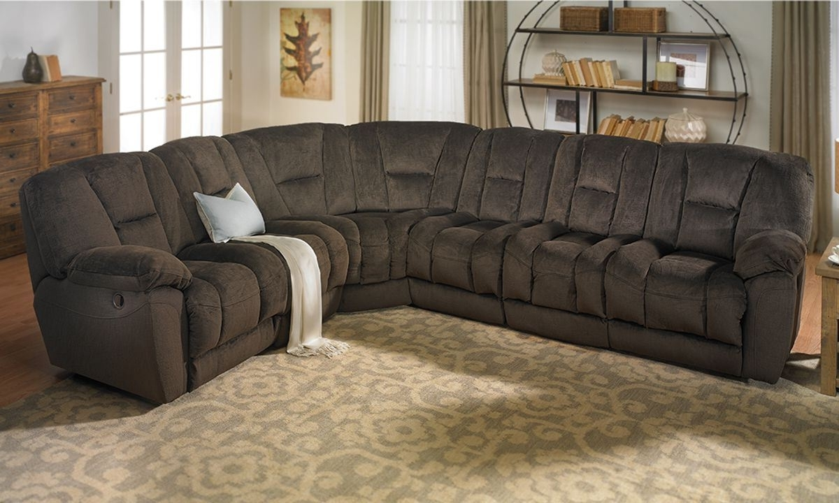 2018 Angelica Duel Reclining Memory Foam Sectional Sofa (View 2 of 15)