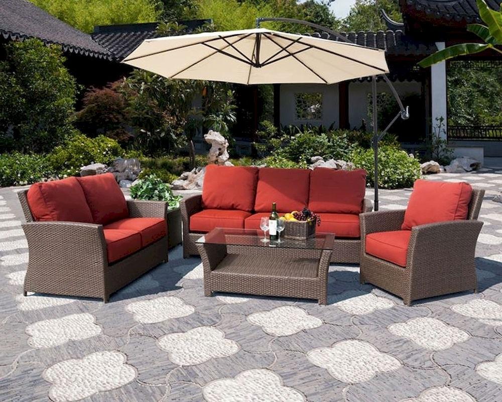 2018 Avalon Patio Sofa Setsunny Designs Su 4753 Set Regarding Patio Sofas (View 3 of 15)