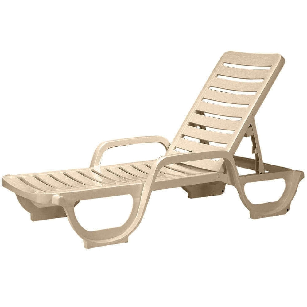2018 Bahia Plastic Resin Commercial Grade Pool Chaise Lounge Pertaining To Plastic Chaise Lounges (View 7 of 15)