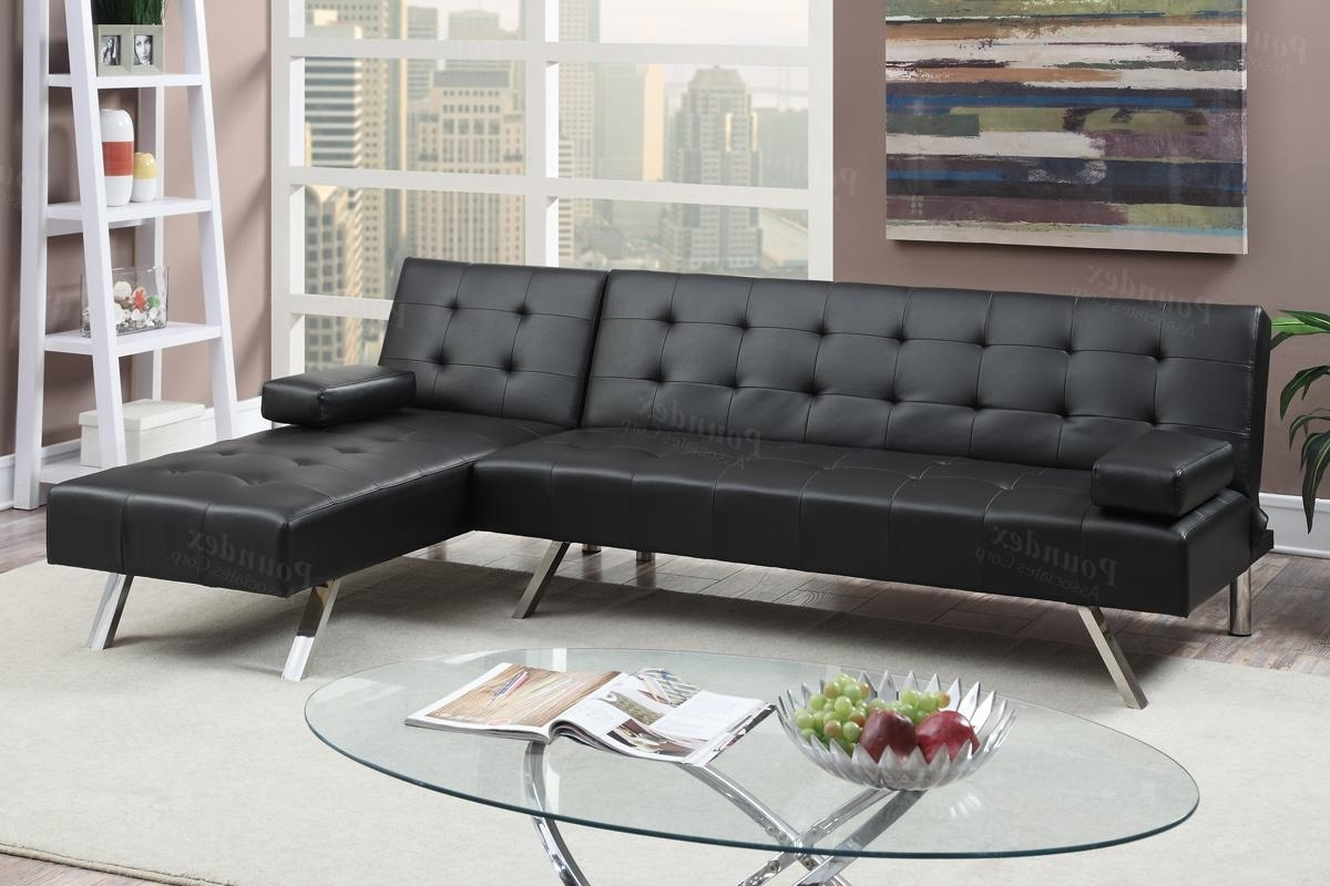 2018 Black Leather Sectional Sofa Bed – Steal A Sofa Furniture Outlet Inside Los Angeles Sectional Sofas (View 14 of 15)