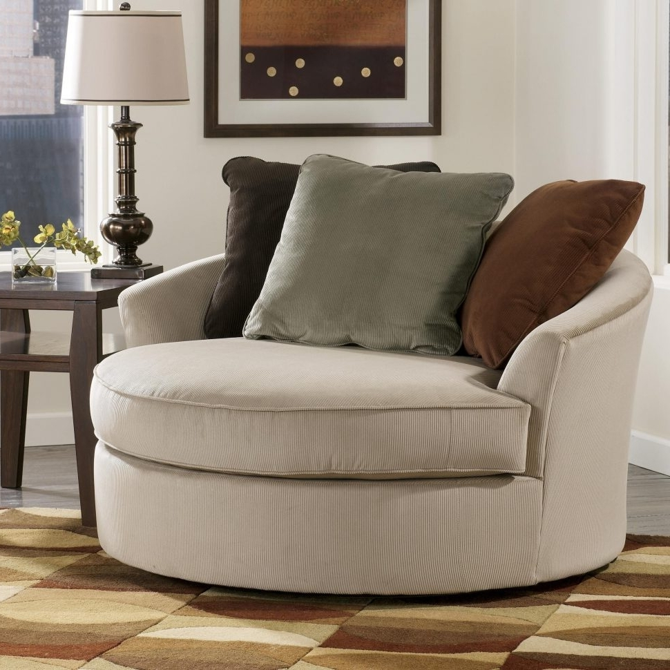 2018 Chairs : Chairs Comfy Swivel Armchair Photo Inspirations Laken Regarding Big Round Sofa Chairs (View 1 of 15)