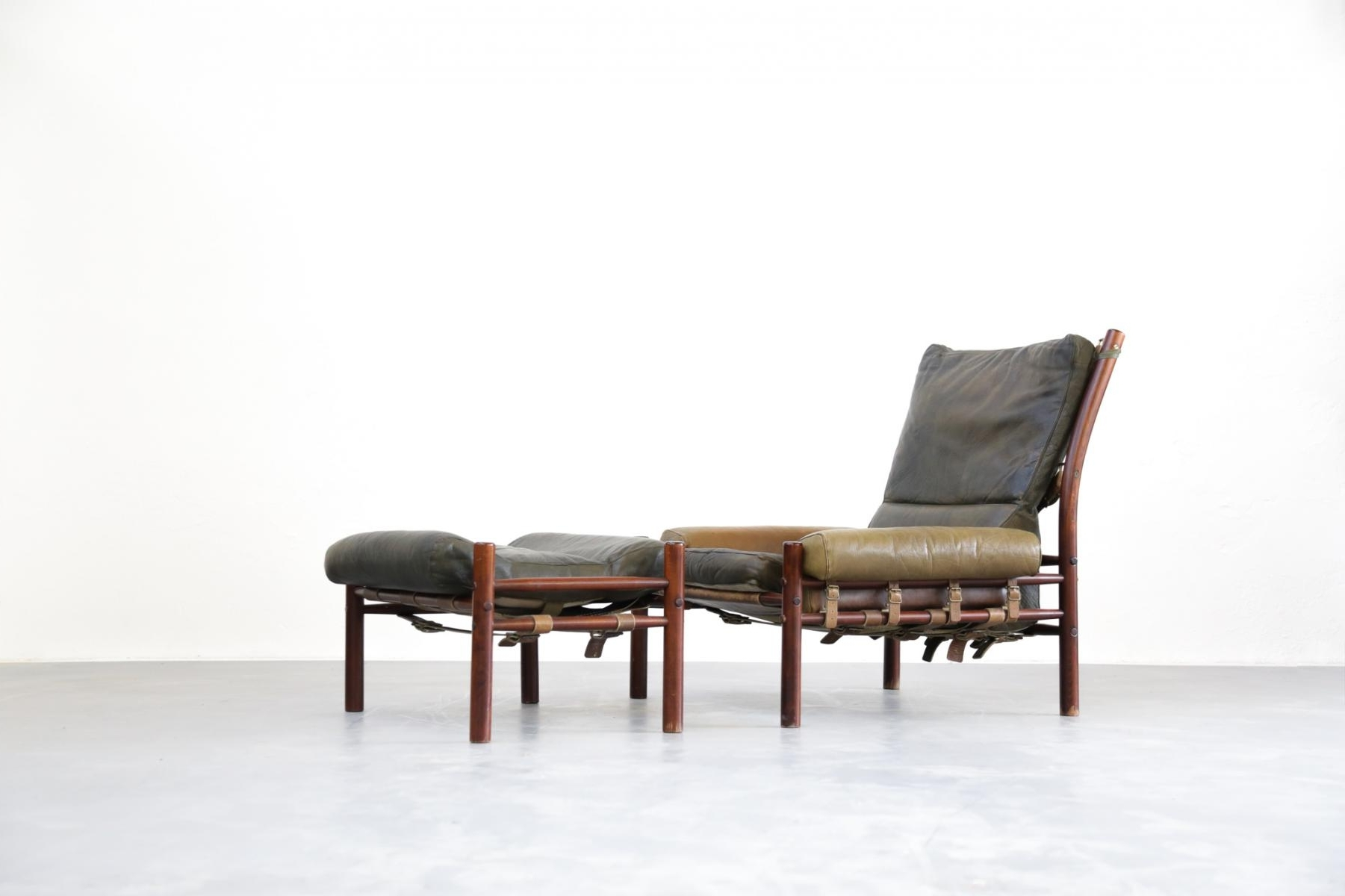 2018 Chaise Lounge Chairs With Ottoman In Mid Century Lounge Chair & Ottoman From Arne Norell For Sale At Pamono (View 5 of 15)