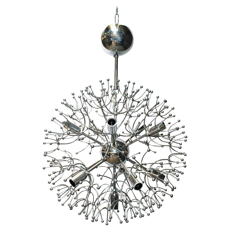 2018 Chrome Sputnik Chandeliers Throughout Sciolari Chrome Sputnik Chandelier For Sale At 1Stdibs (View 1 of 15)