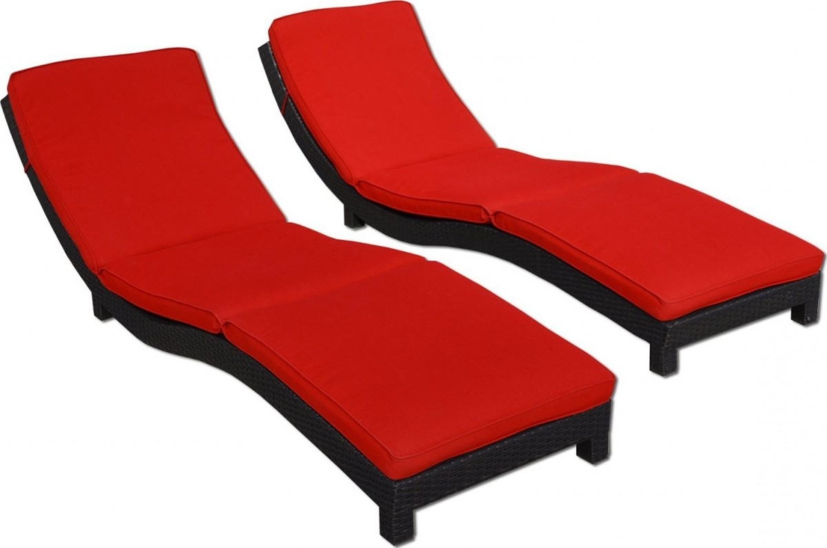 2018 Coast Modern Living Outdoor Chaise Lounge Chairs W/ Cushions Throughout Chaise Lounge Chairs With Cushions (View 1 of 15)