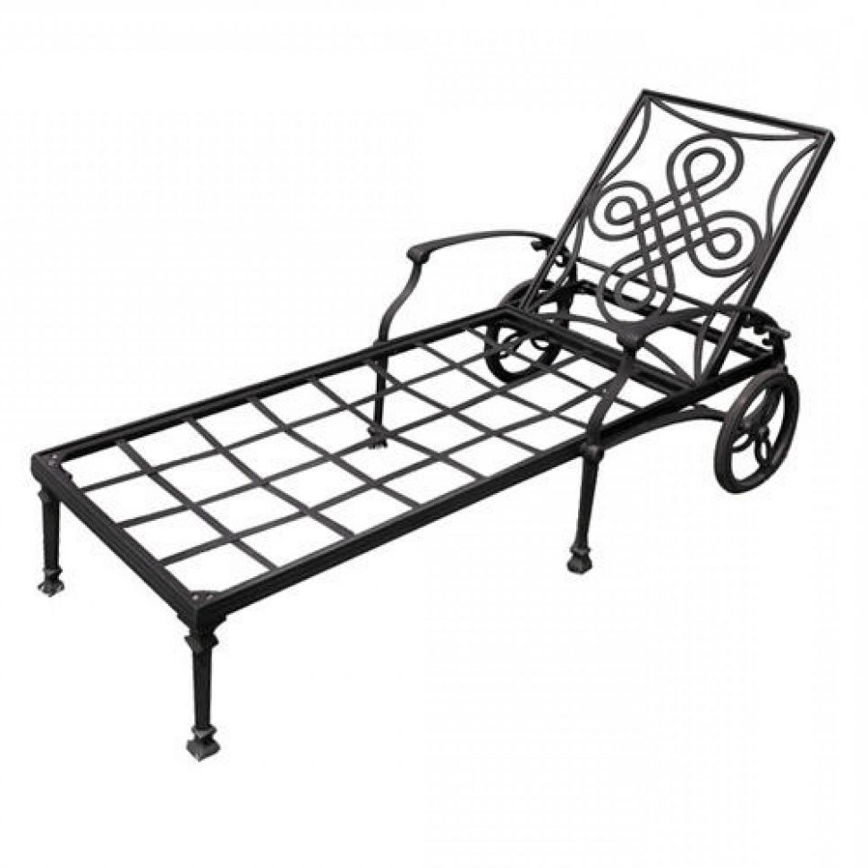 2018 Convertible Chair : Pool Patio Lounge Chairs Portable Outdoor Regarding Wrought Iron Outdoor Chaise Lounge Chairs (View 8 of 15)