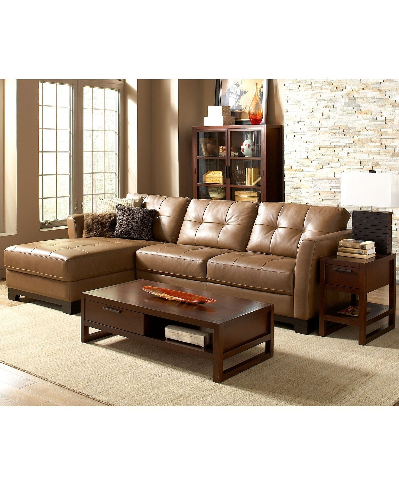 2018 Economax Sectional Sofas Throughout Martino Leather Sectional Living Room Furniture Sets & Pieces (View 3 of 15)