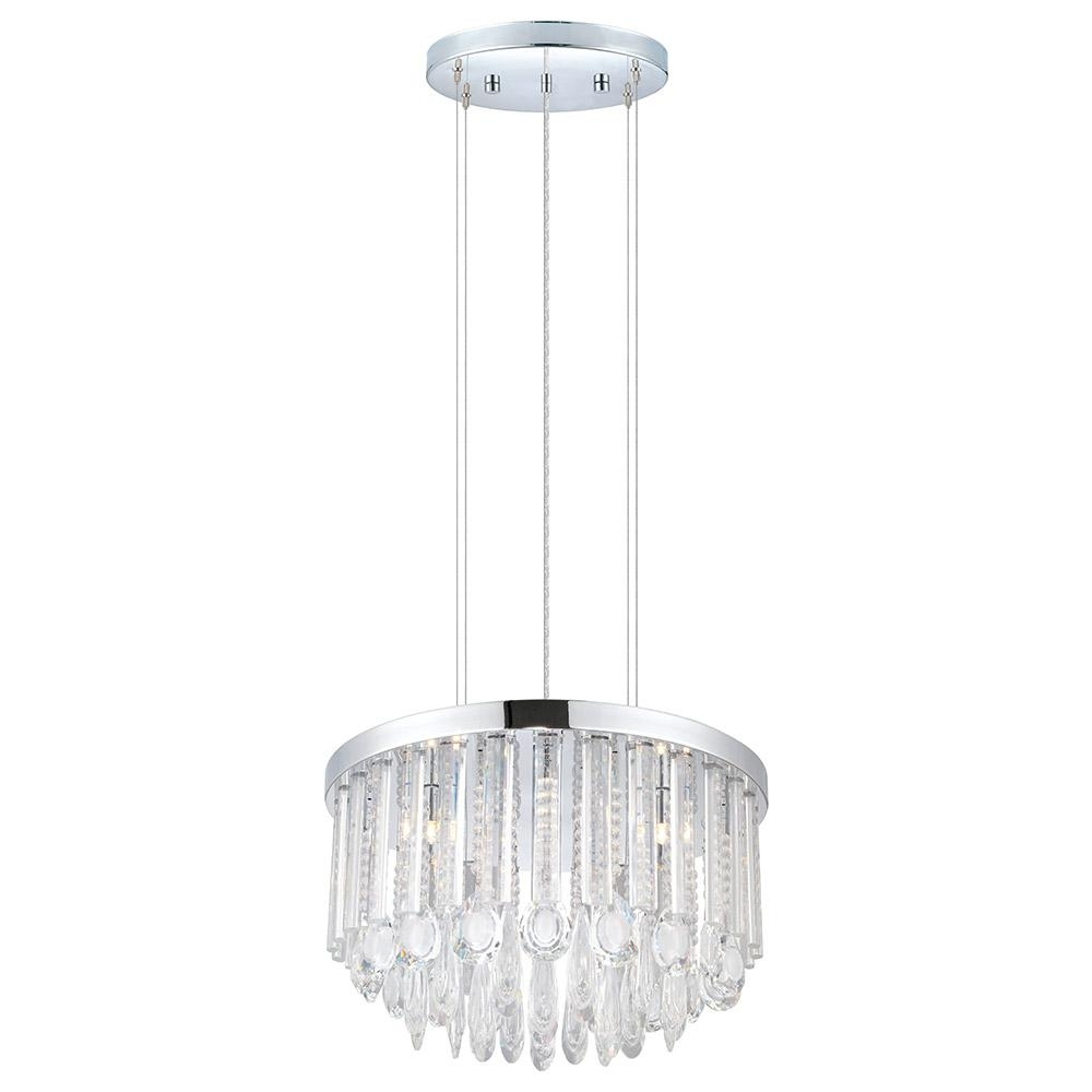 2018 Eglo Usa Calaonda 7 Light Chrome Chandelier 93425A – The Home Depot Intended For 7 Light Chandeliers (View 7 of 15)