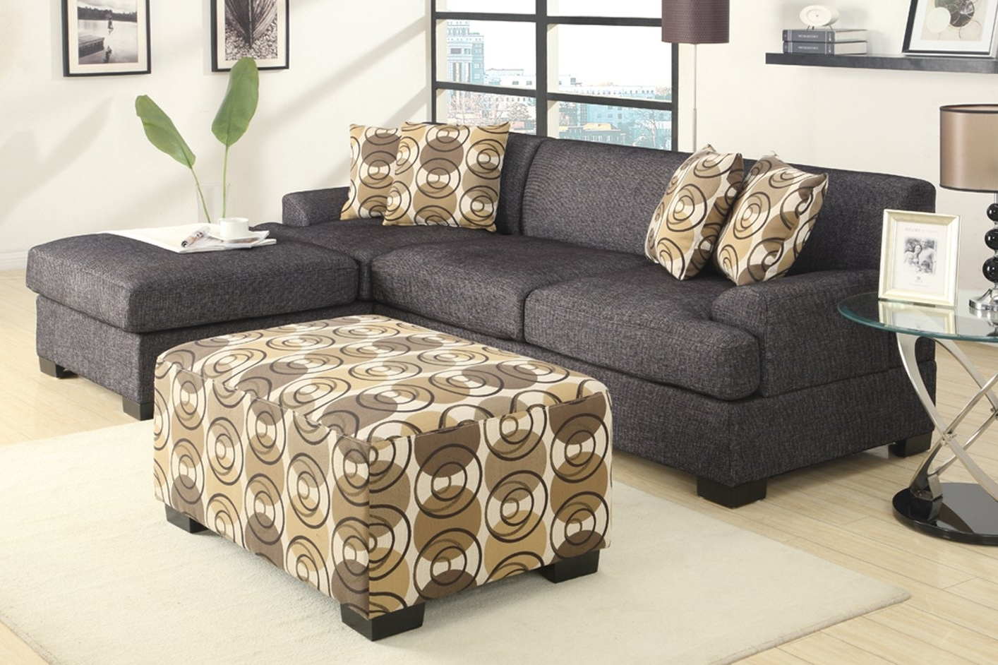 2018 Fabric Chaise Lounges Pertaining To Grey Fabric Chaise Lounge – Steal A Sofa Furniture Outlet Los (View 2 of 15)