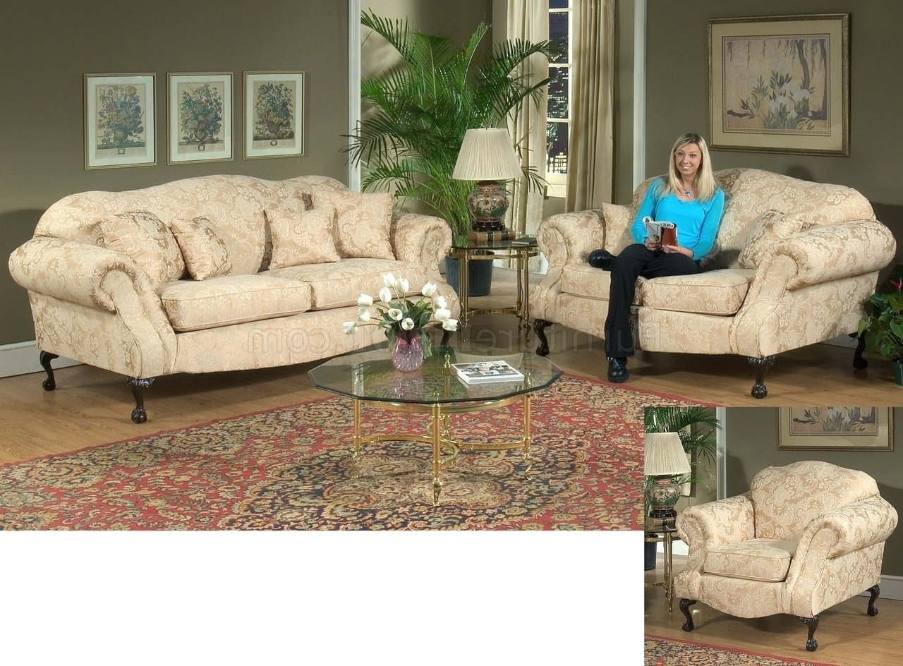 2018 Fabric Traditional Sofa & Loveseat Set W/optional Chair Intended For Traditional Fabric Sofas (View 2 of 15)