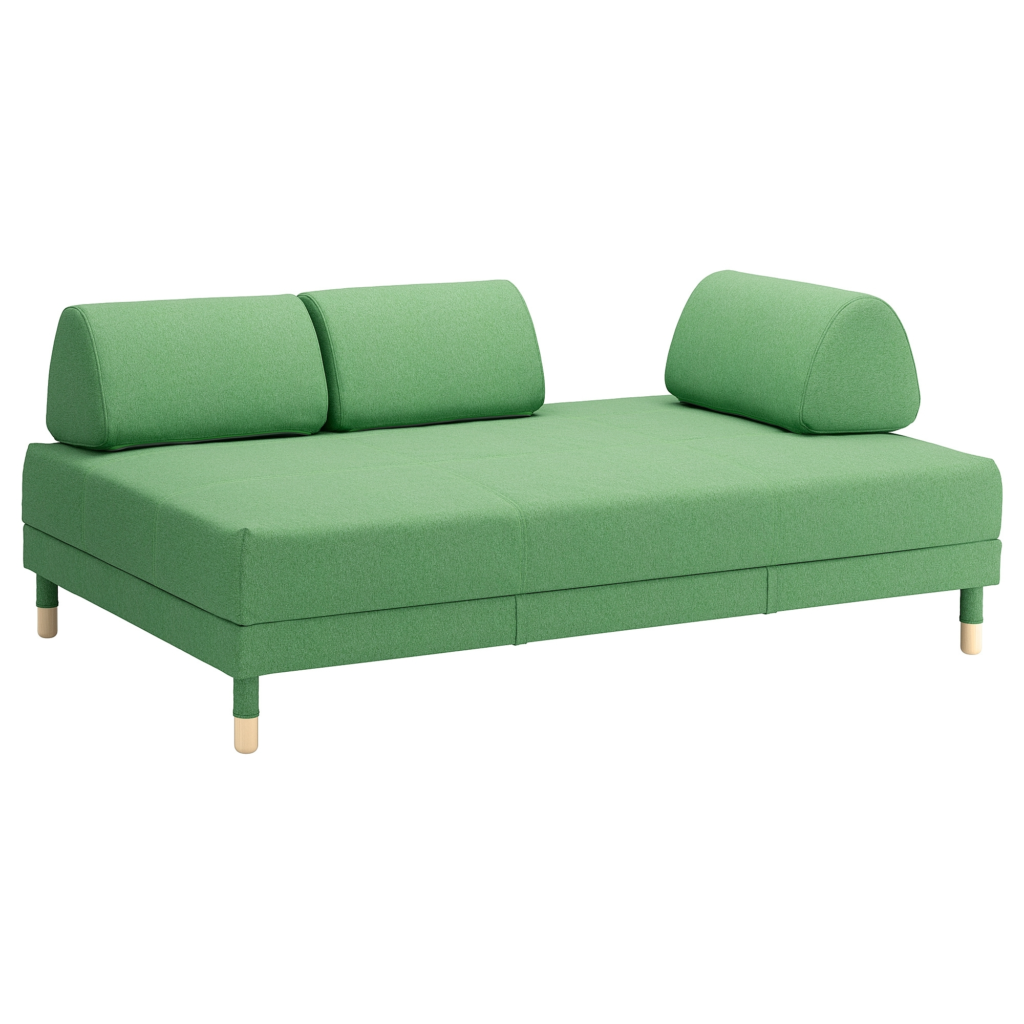 2018 Flottebo Sleeper Sofa – Lysed Green – Ikea Inside Ikea Sofa Beds With Chaise (View 1 of 15)