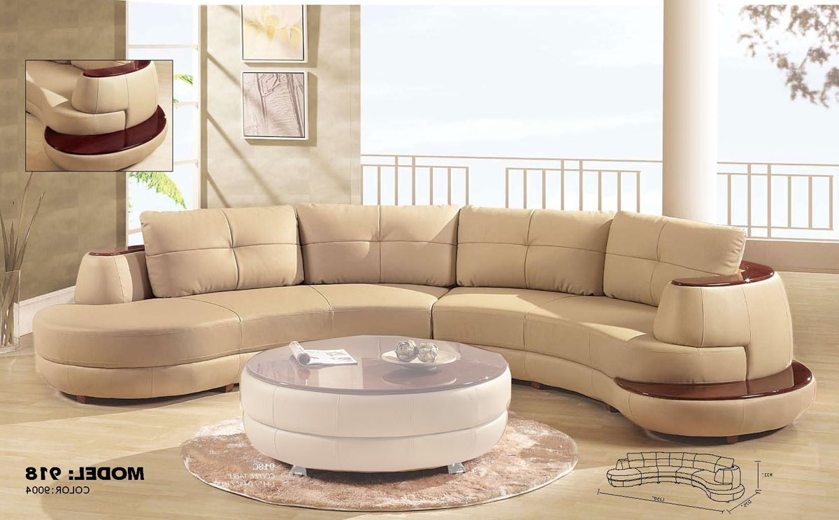 2018 Global Furniture Usa 918 Sectional Sofa – Cappuccino Gf 918 Sec At With Regard To Round Sectional Sofas (View 14 of 15)