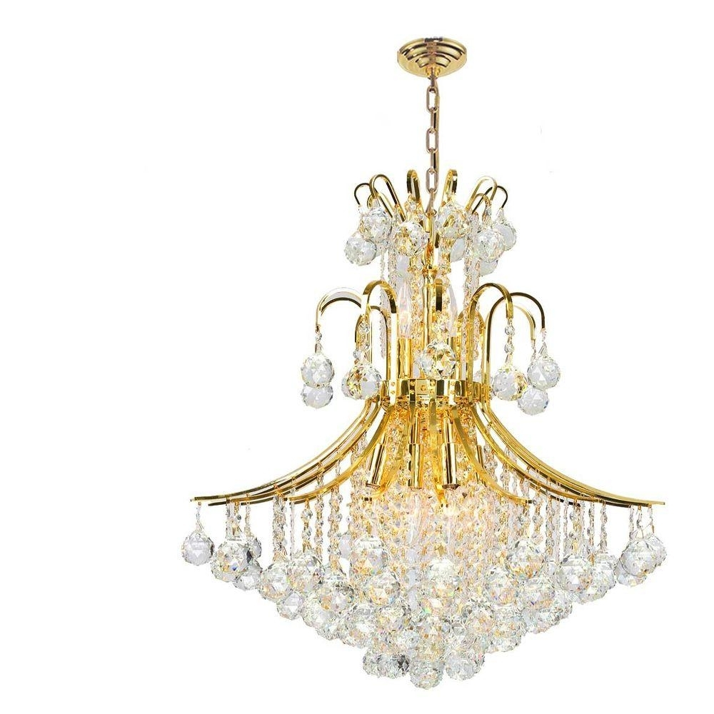 2018 Gold And Crystal Chandelier – Chandelier Designs Intended For Crystal Gold Chandelier (View 1 of 15)