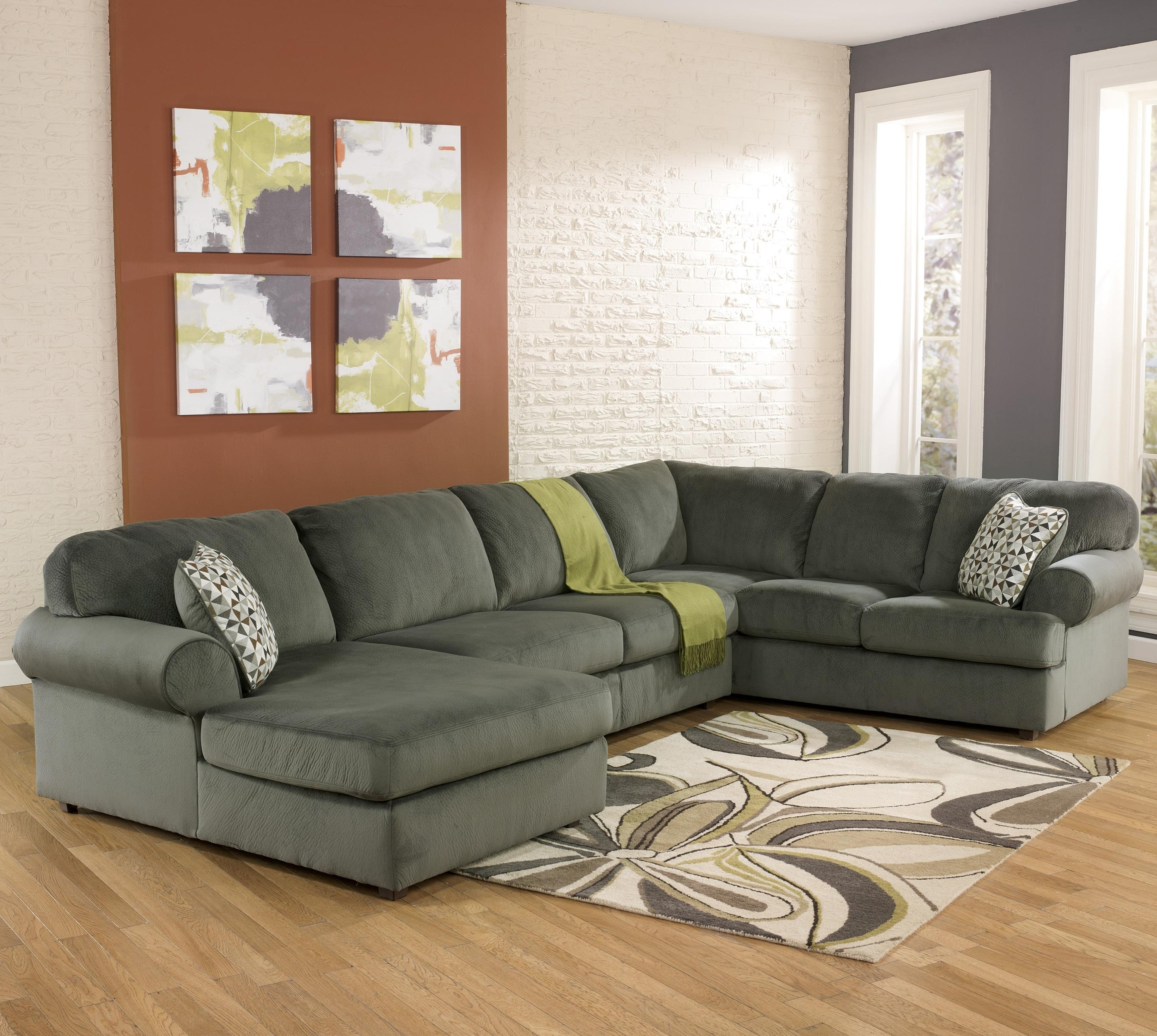 2018 Greenville Nc Sectional Sofas With Regard To Signature Designashley Jessa Place – Pewter Casual Sectional (View 12 of 15)