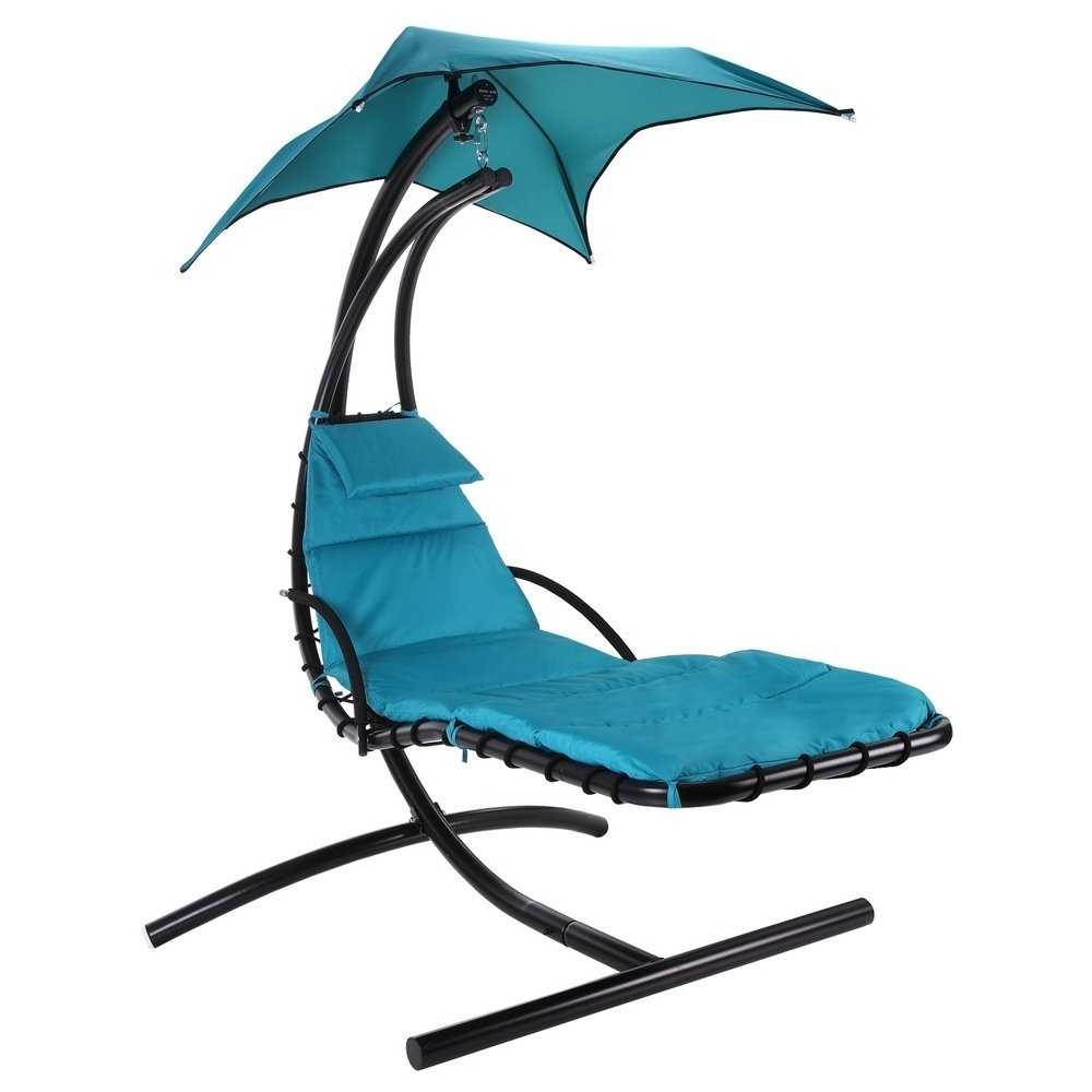 2018 Hanging Chaise Lounge Chairs Pertaining To Amazon : Palm Springs Outdoor Hanging Chair Recliner Swing Air (View 1 of 15)