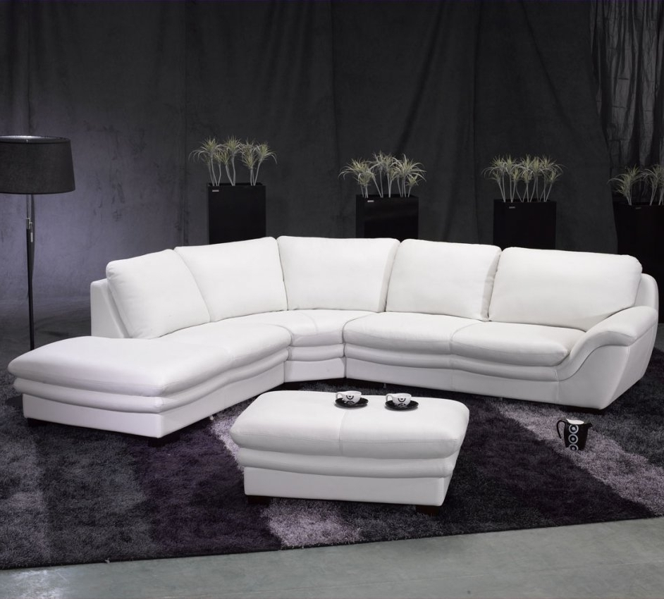 2018 High End Leather Sectional Sofas Regarding Riviera White Leather Sectional Sofa (View 14 of 15)