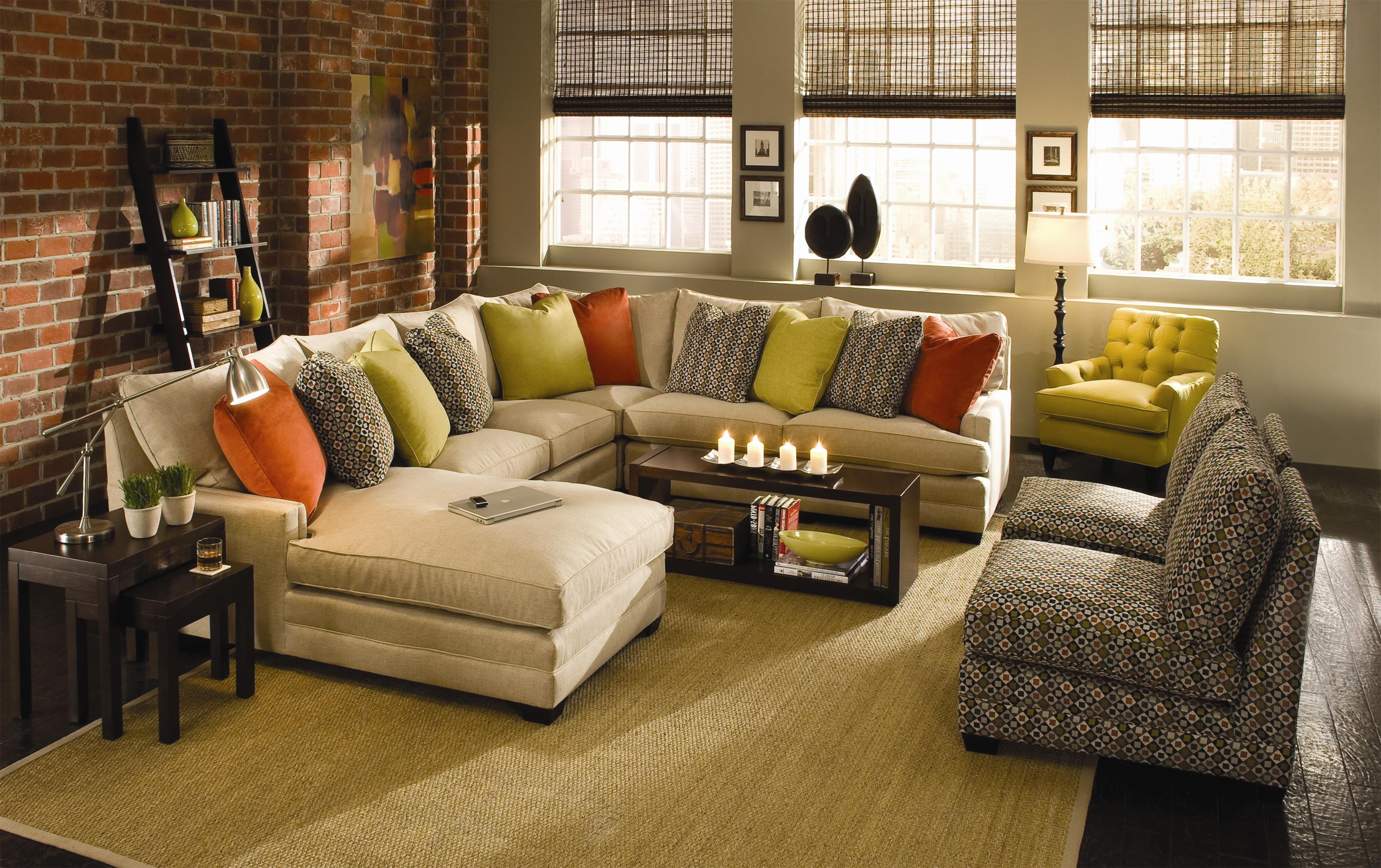 2018 Knoxville Tn Sectional Sofas Within Sam Moore Margo Wide Sectional Sofa (View 3 of 15)