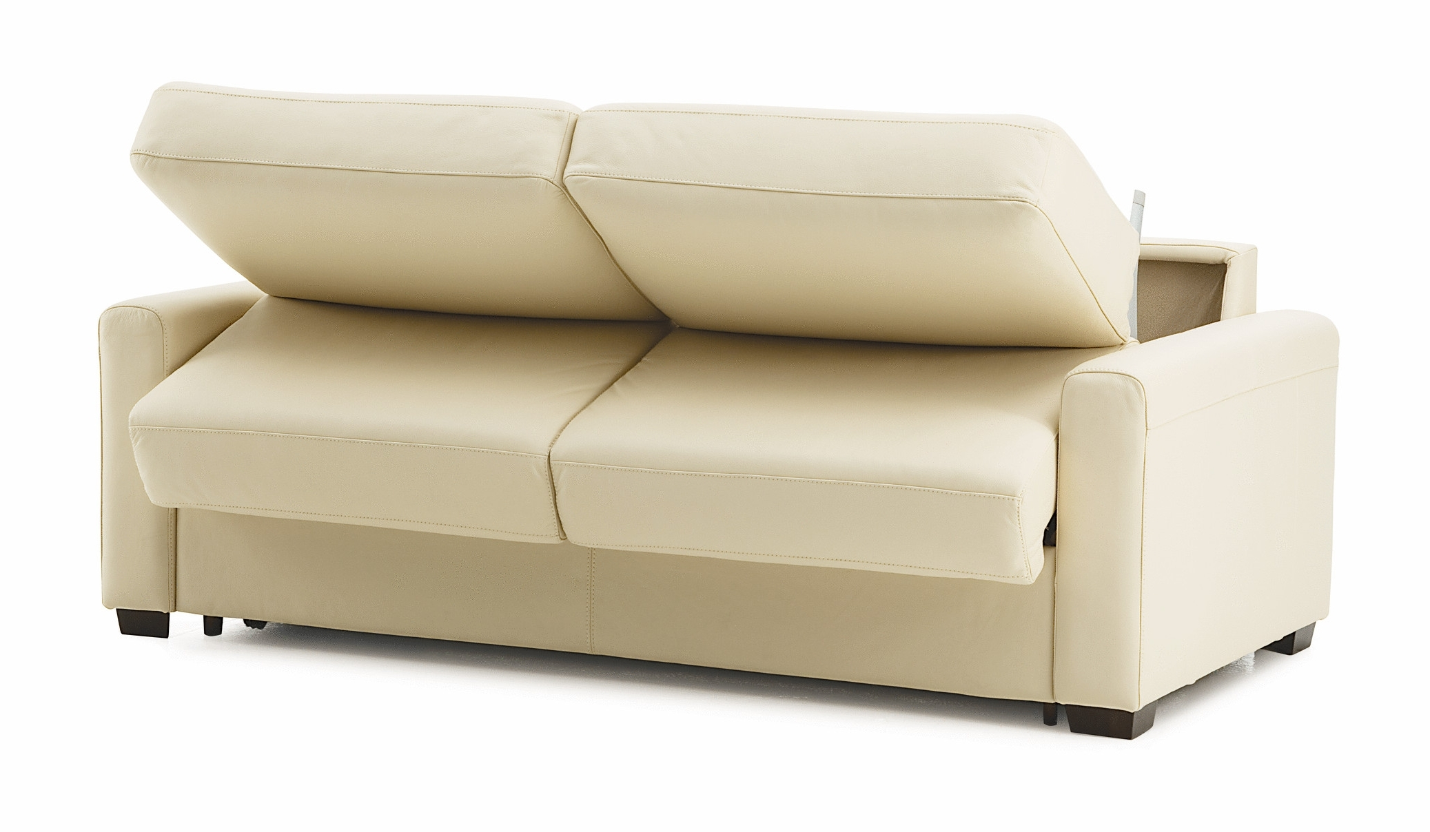 2018 Maximizing Small Spaces Using White Leather Twin Size Sleeper Sofa Pertaining To Twin Sleeper Sofa Chairs (View 12 of 15)