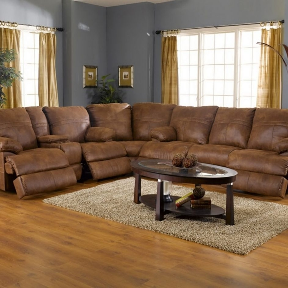 2018 Microfiber Sectional Sofas With Sofa Recliners Ottoman Small Regarding Sectional Sofas With Recliners (View 14 of 15)