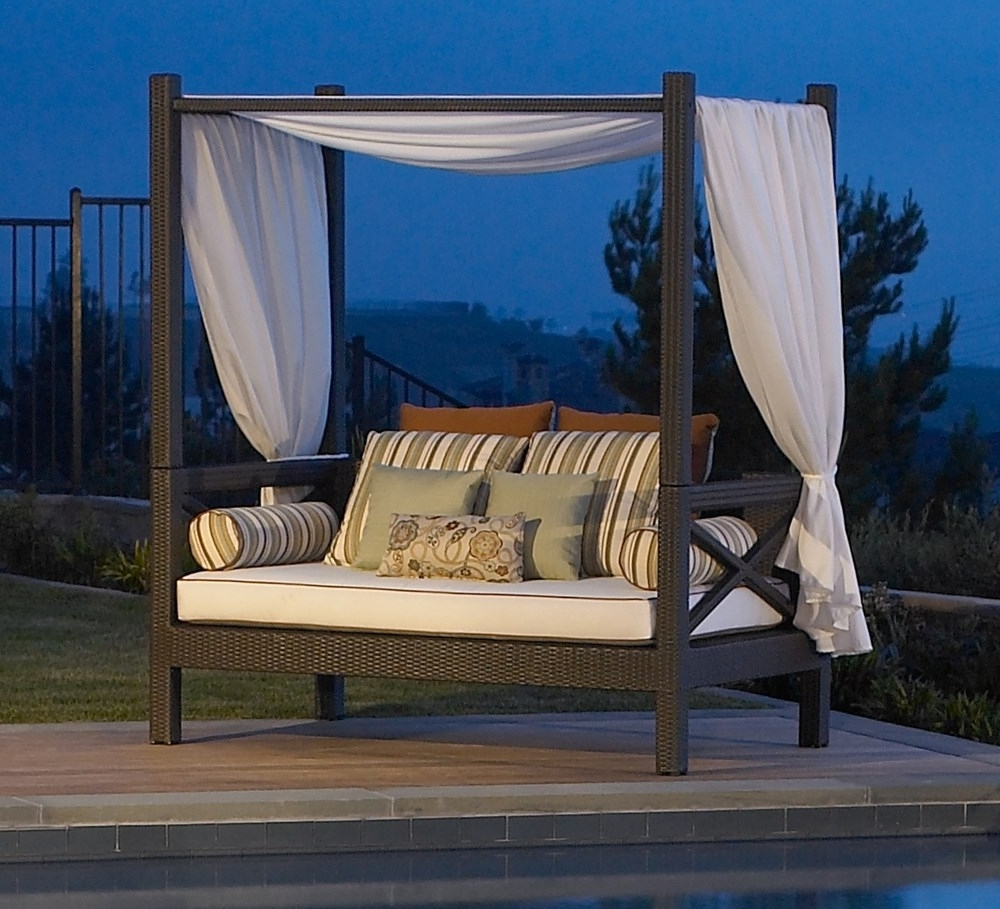 2018 Outdoor Sofas With Canopy With Resin Wicker Outdoor Daybed, Resin Wicker Outdoor Daybed Suppliers (View 2 of 15)