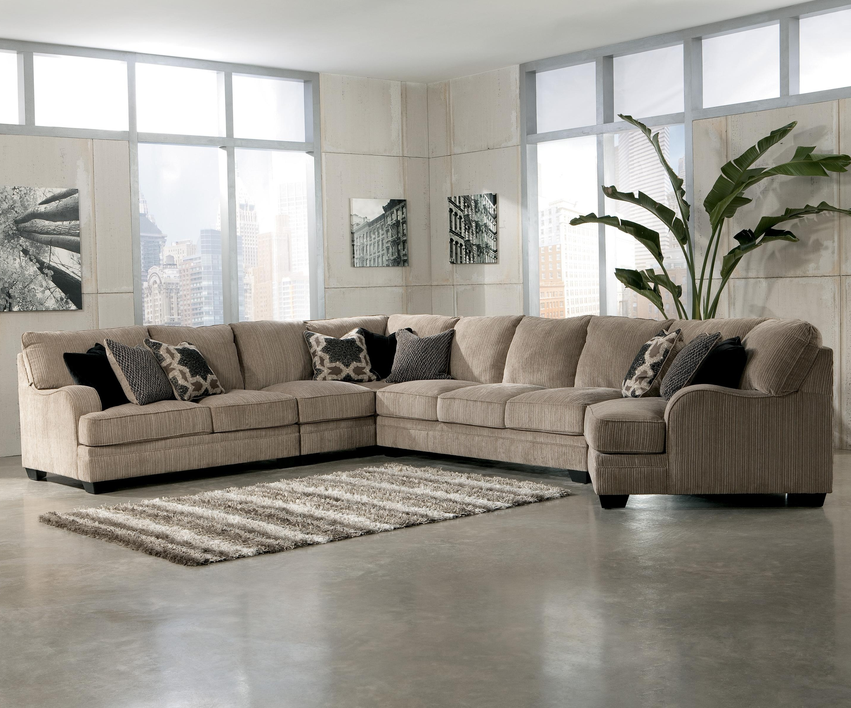 2018 Peterborough Ontario Sectional Sofas Pertaining To Signature Designashley Katisha – Platinum 5 Piece Sectional (View 1 of 15)