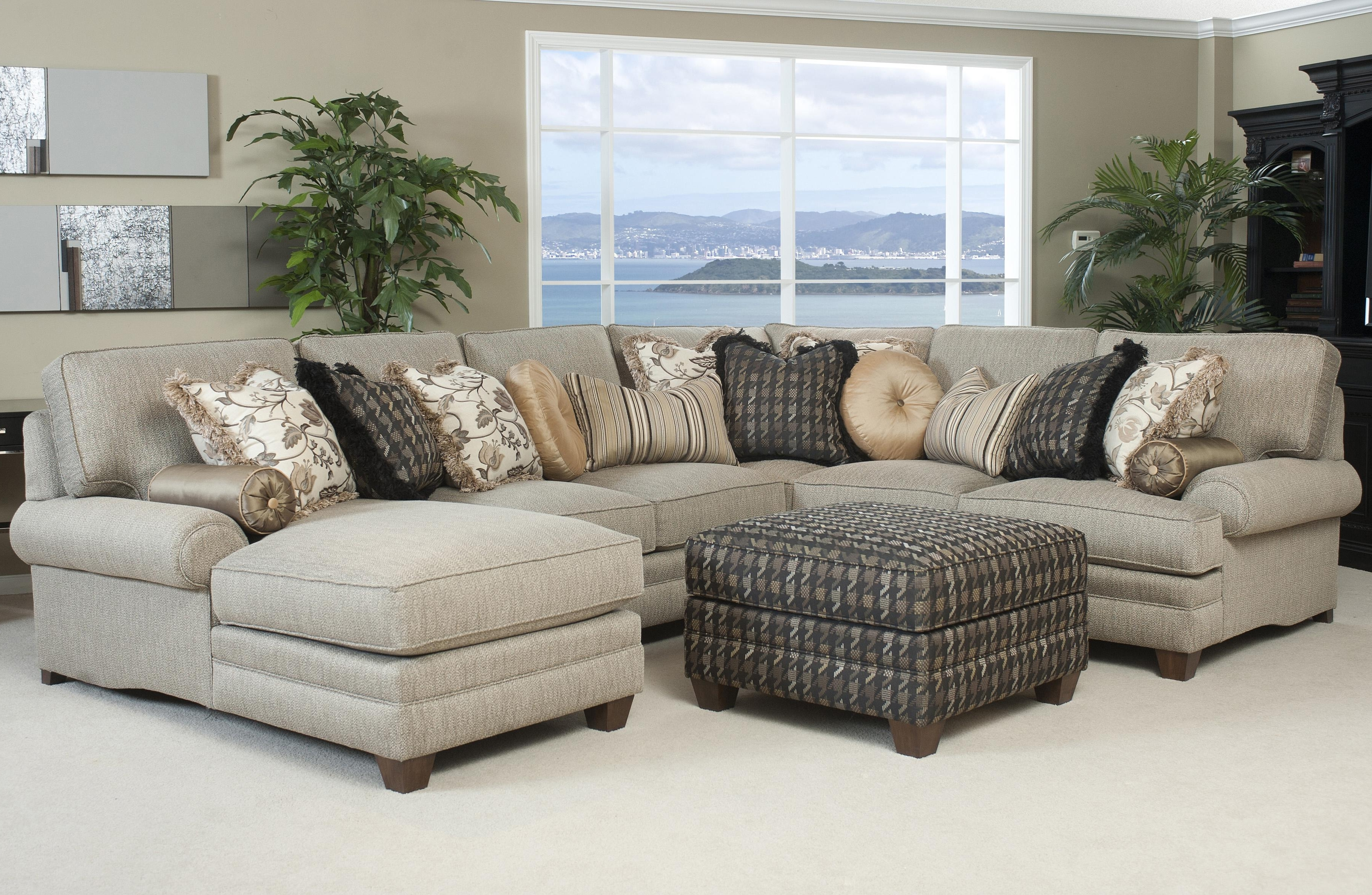 2018 Quality Sectional Sofas With Regard To Large Sectional Sofa With Ottoman (View 2 of 15)