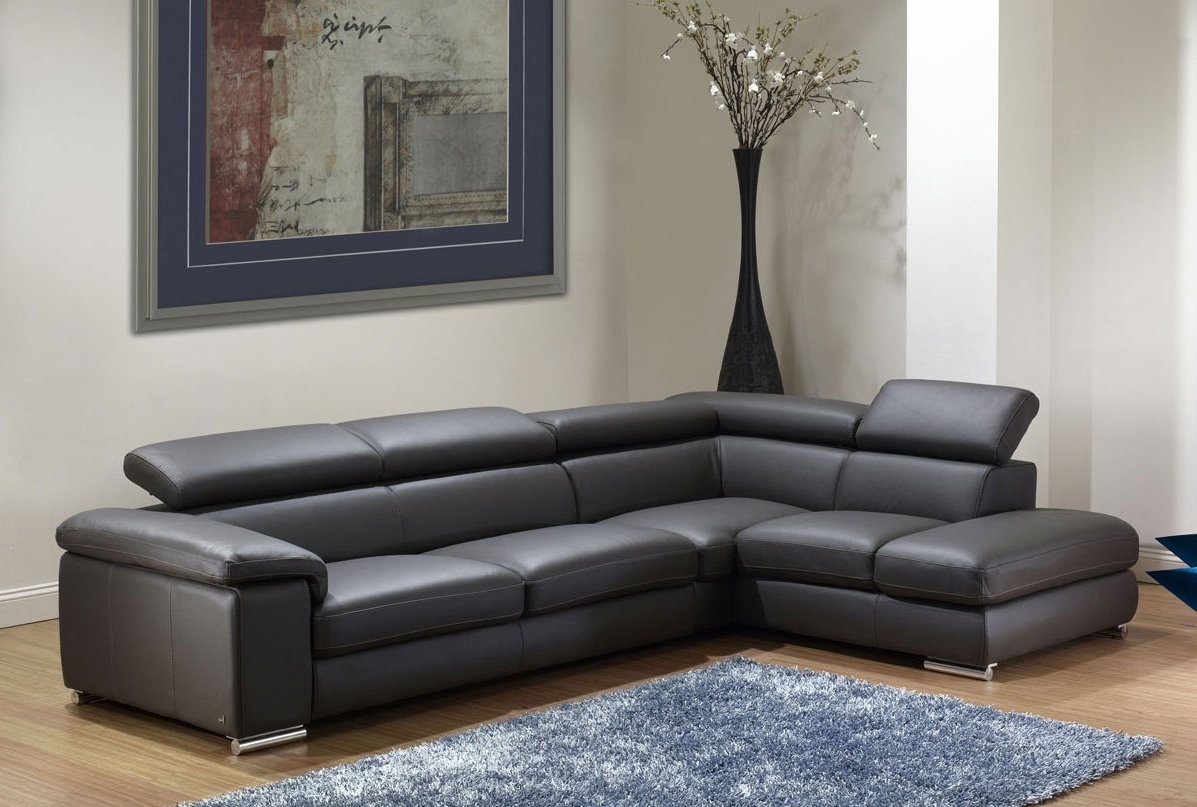 2018 Sacramento Espresso Leather Sectional Sofa Set With Chaise – S3Net With Leather Sofas With Chaise (View 1 of 15)