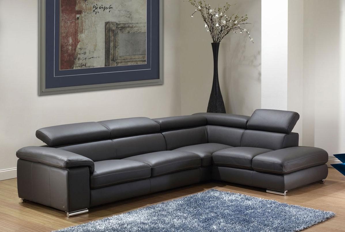 2018 Sacramento Espresso Leather Sectional Sofa Set With Chaise – S3Net With Leather Sofas With Chaise (View 12 of 15)