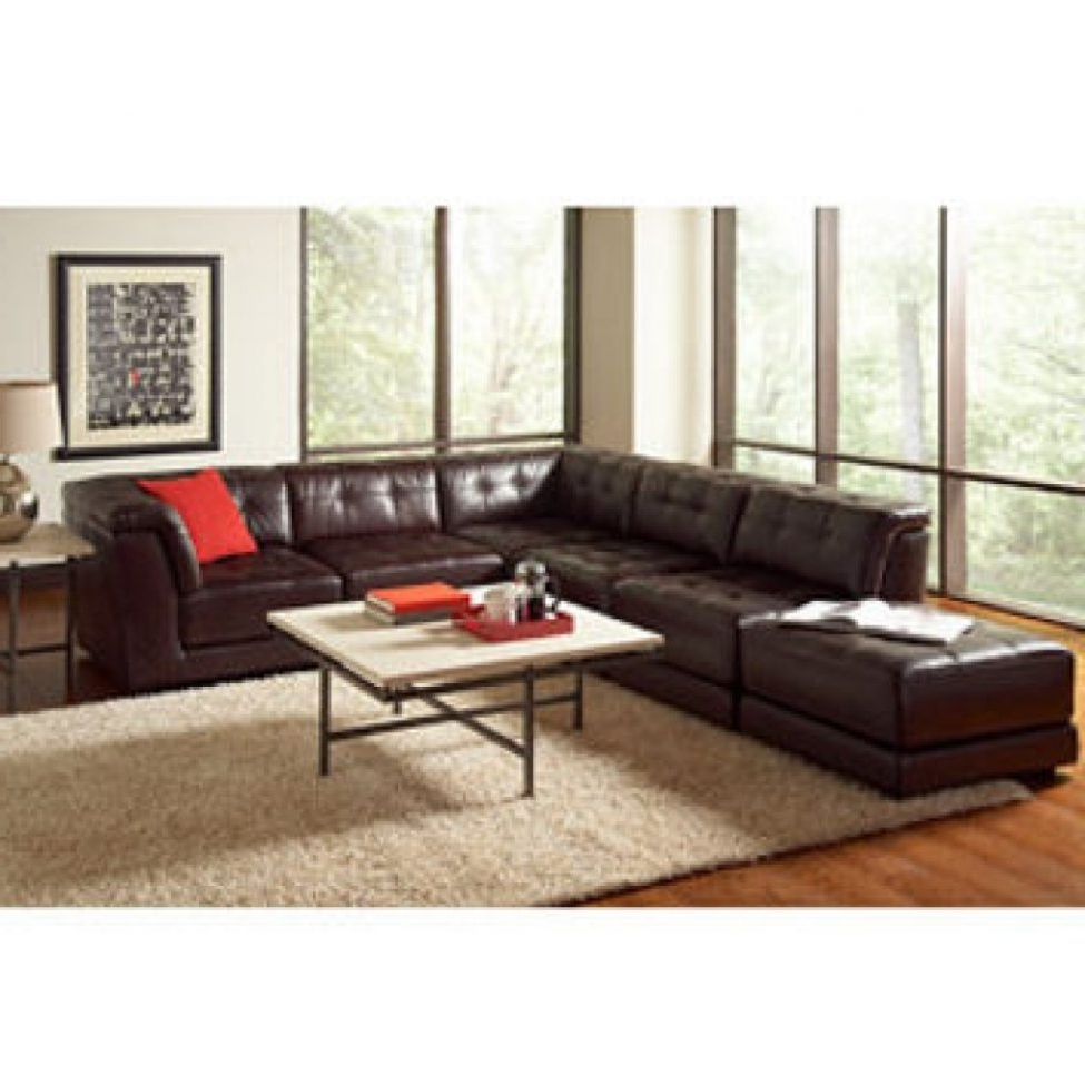2018 Sectional Sofas: Stacey Leather 6 Piece Modular Sectional From Inside 6 Piece Leather Sectional Sofas (View 2 of 15)