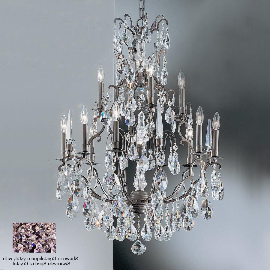 2018 Shop Classic Lighting Versailles 13 Light Antique Bronze Crystal Inside Bronze And Crystal Chandeliers (View 14 of 15)