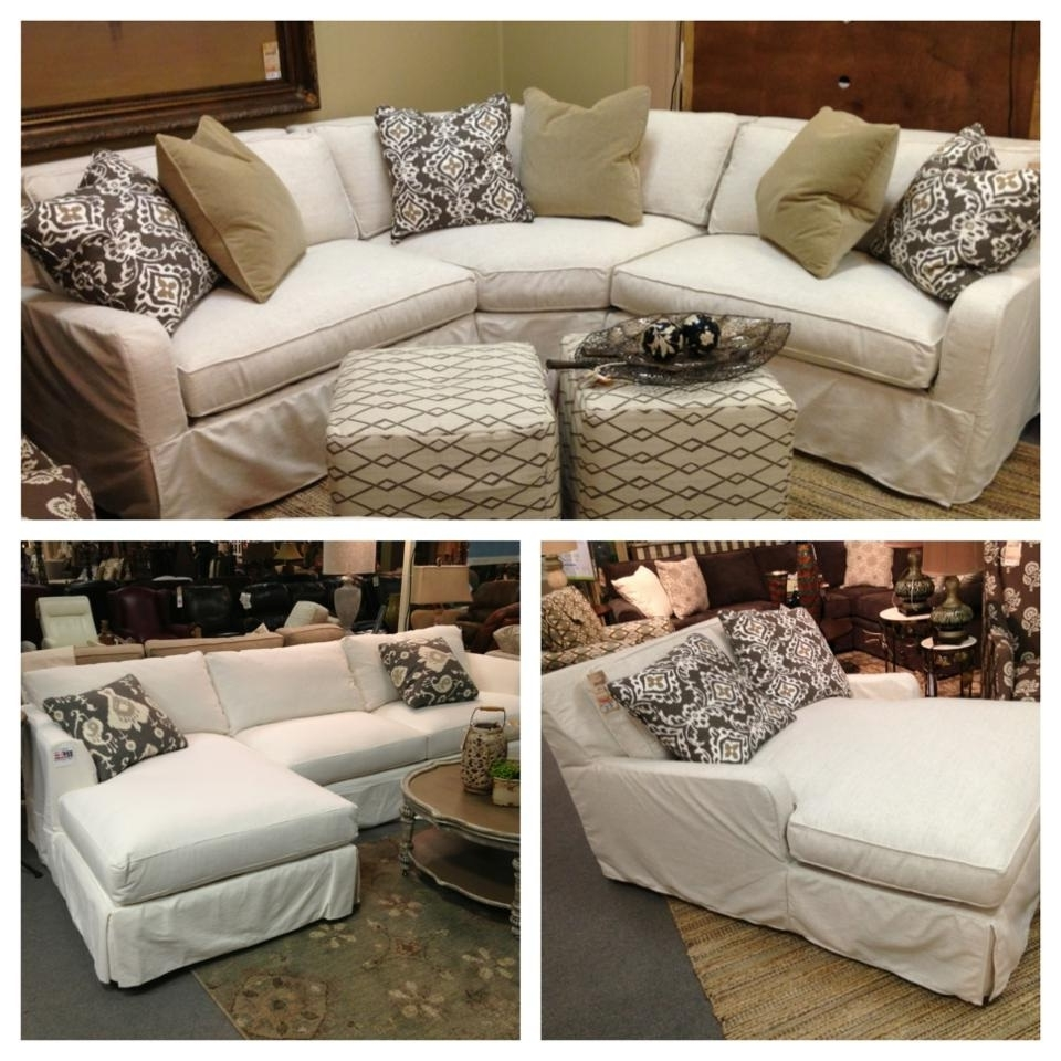 2018 Slipcovered Sofas With Chaise With Robin Bruce Havens Slipcover Sofa Now Available As Sectional, Sofa (View 3 of 15)