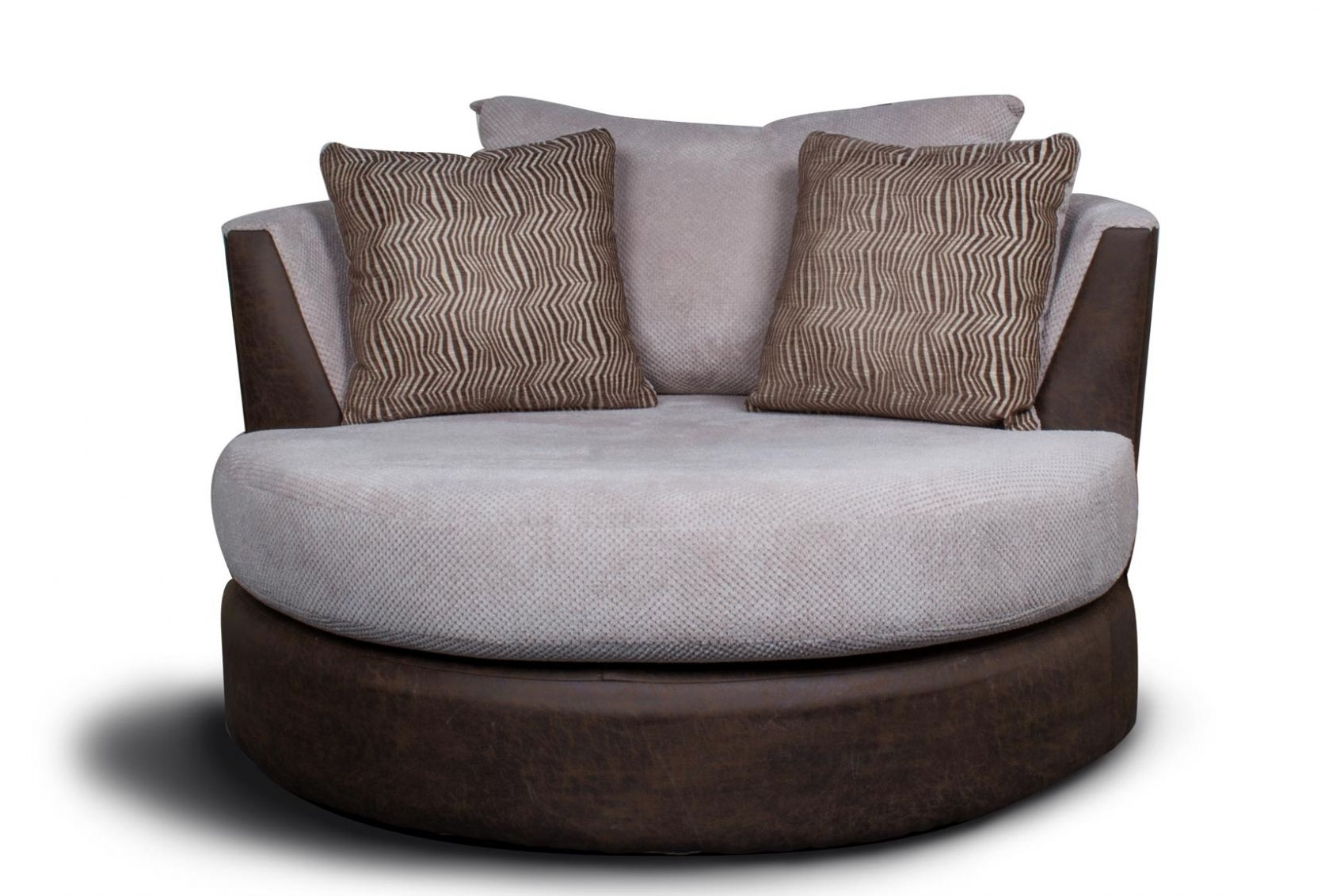 2018 Sofa : Dazzling Round Swivel Sofa Chair Circular Armchair Large In Round Swivel Sofa Chairs (View 2 of 15)