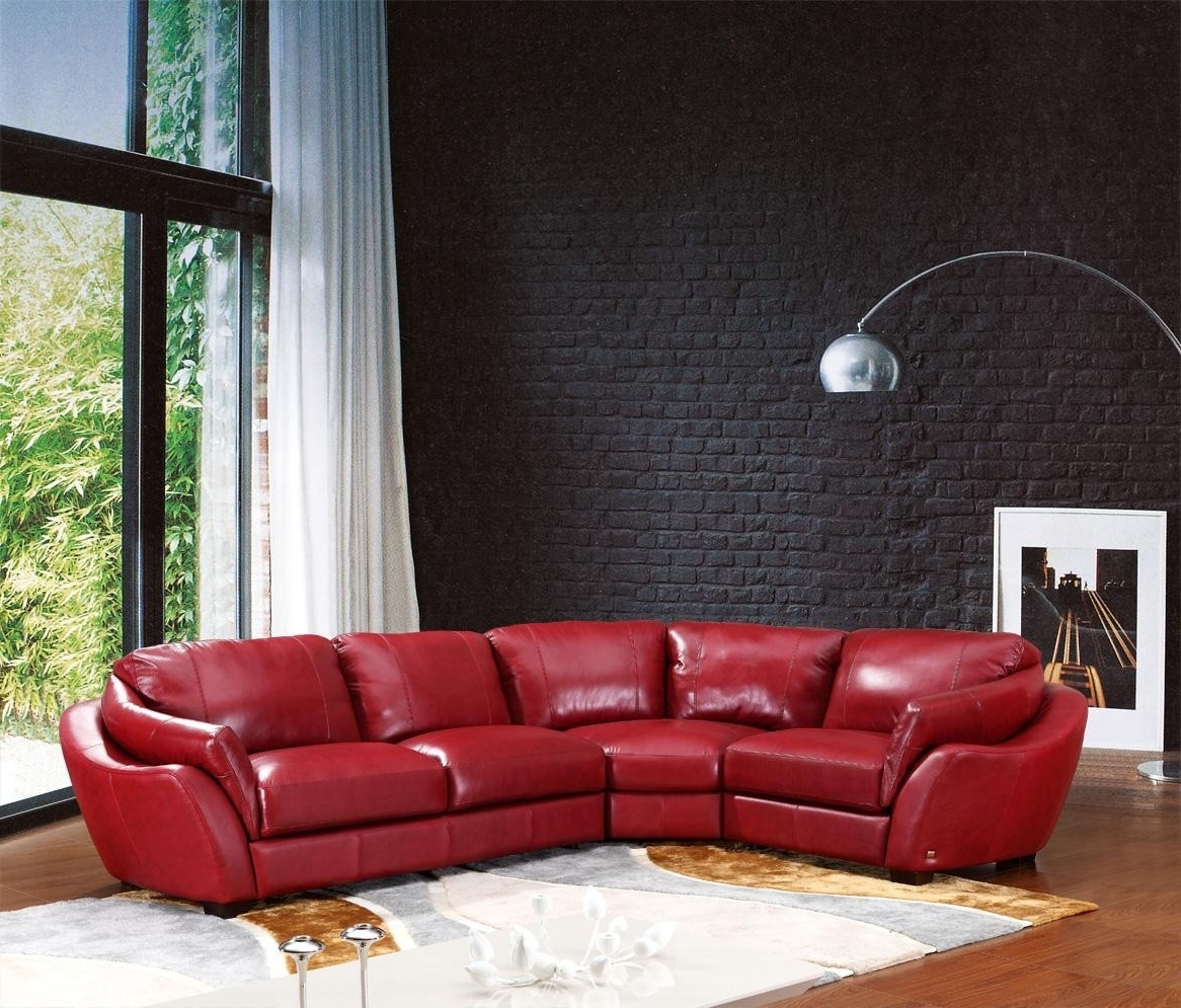 2018 Sofa : Red Couch Sectional Red Sectional Sofas Red Leather Inside Red Leather Sectional Couches (View 3 of 15)