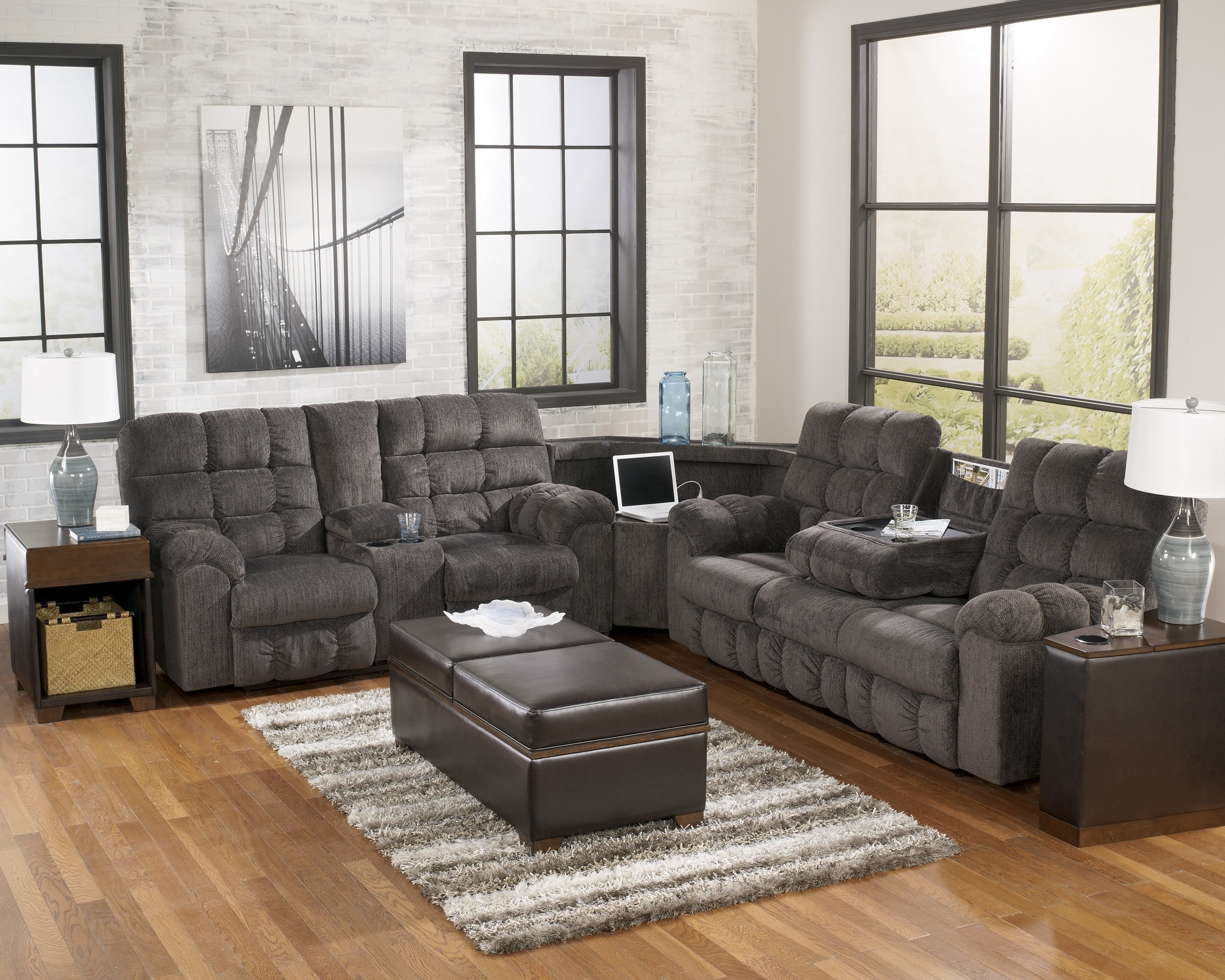 2018 Sofas Center Sectional Sofas Ashley Furniture Excellent Faux For Pertaining To Sectional Sofas At Ashley Furniture (View 8 of 15)