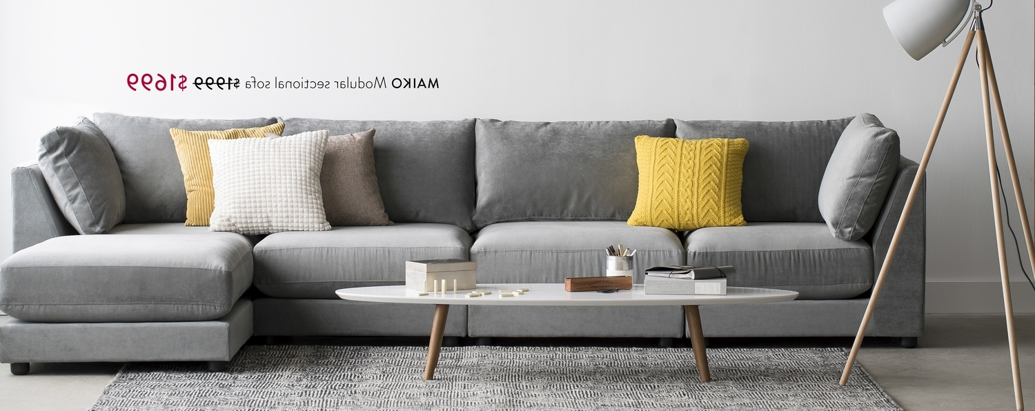 2018 Structube – Maiko Modular Sectional Sofa $1999 $1699, Dylan Coffee With Structube Sectional Sofas (View 1 of 15)