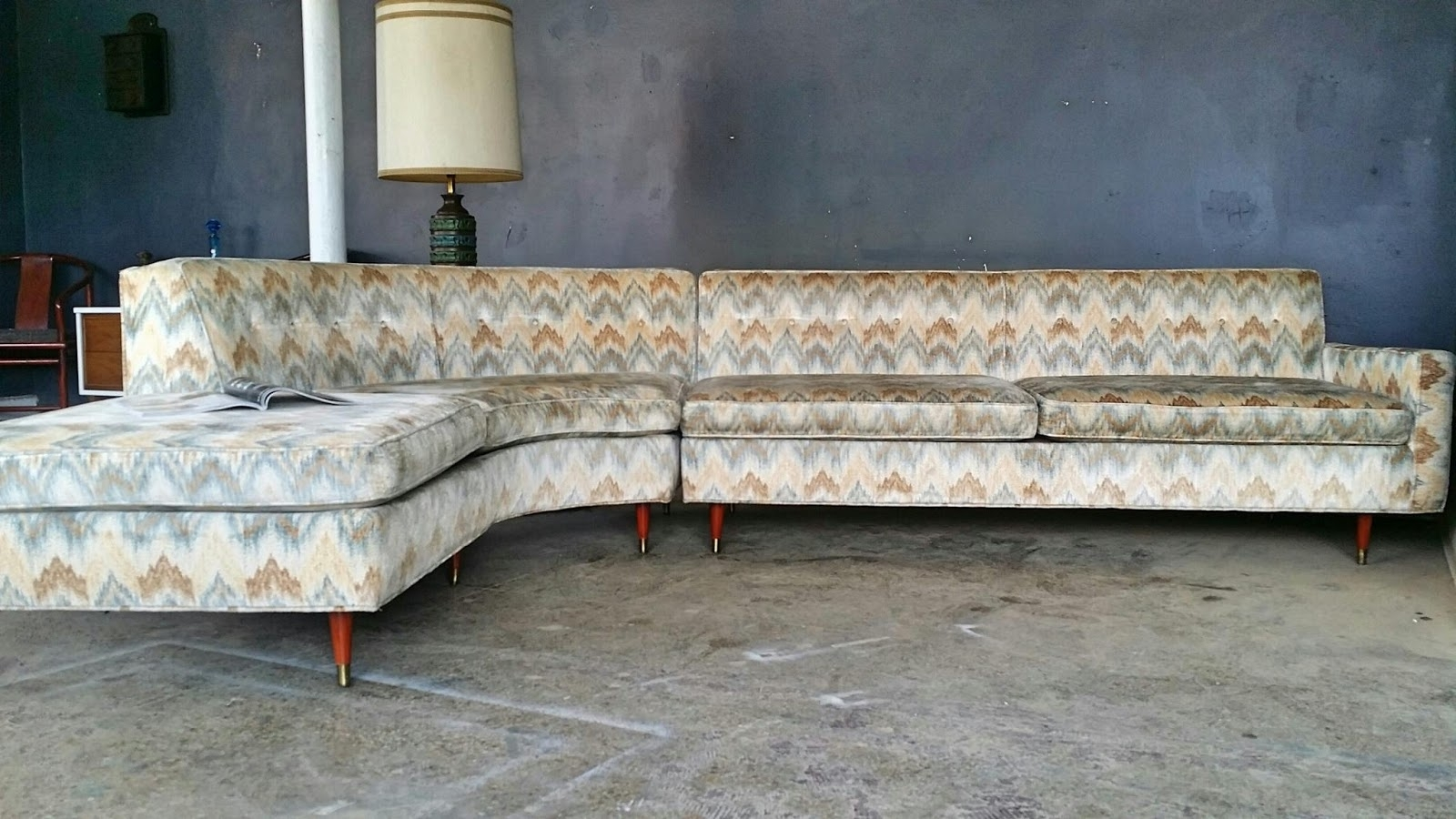 2018 Vintage Sectional Sofas For Vintage Ground: Mid Century Sectional Sofa (View 4 of 15)