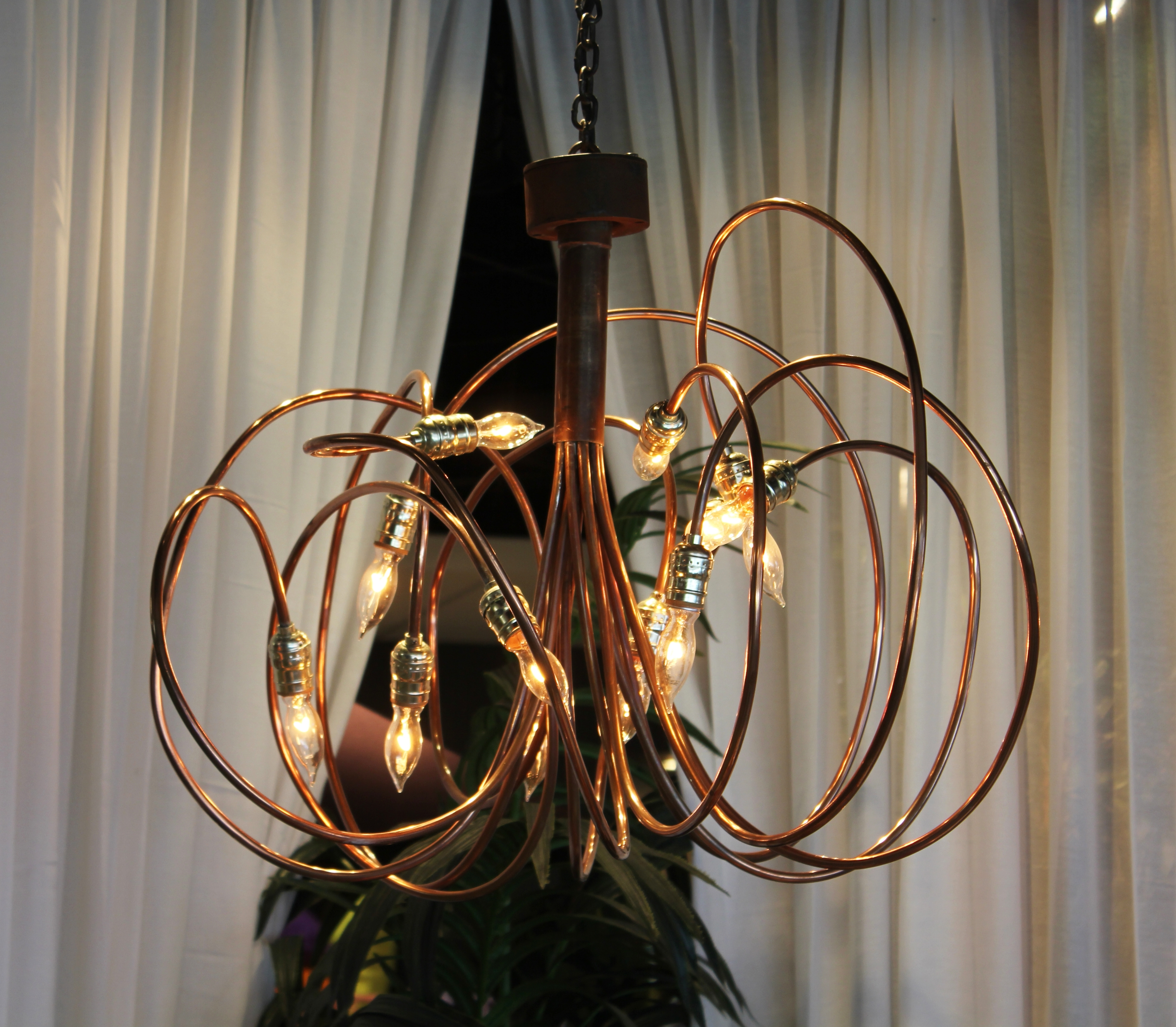 3' Copper & Brass Chandelier (View 13 of 15)