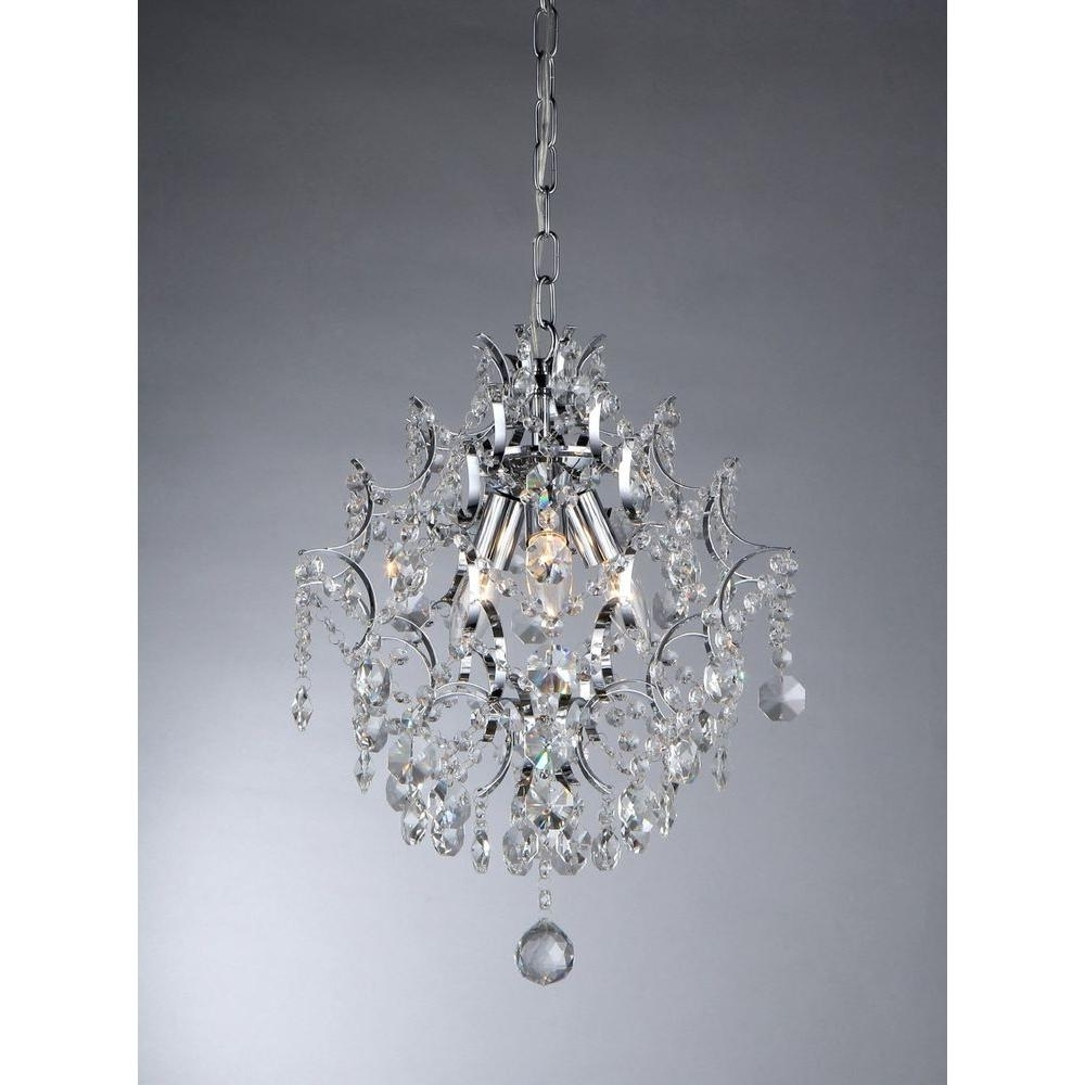 3 Light Crystal Chandeliers for 2017 Warehouse Of Tiffany Ellaisse 3-Light Chrome Crystal Chandelier
