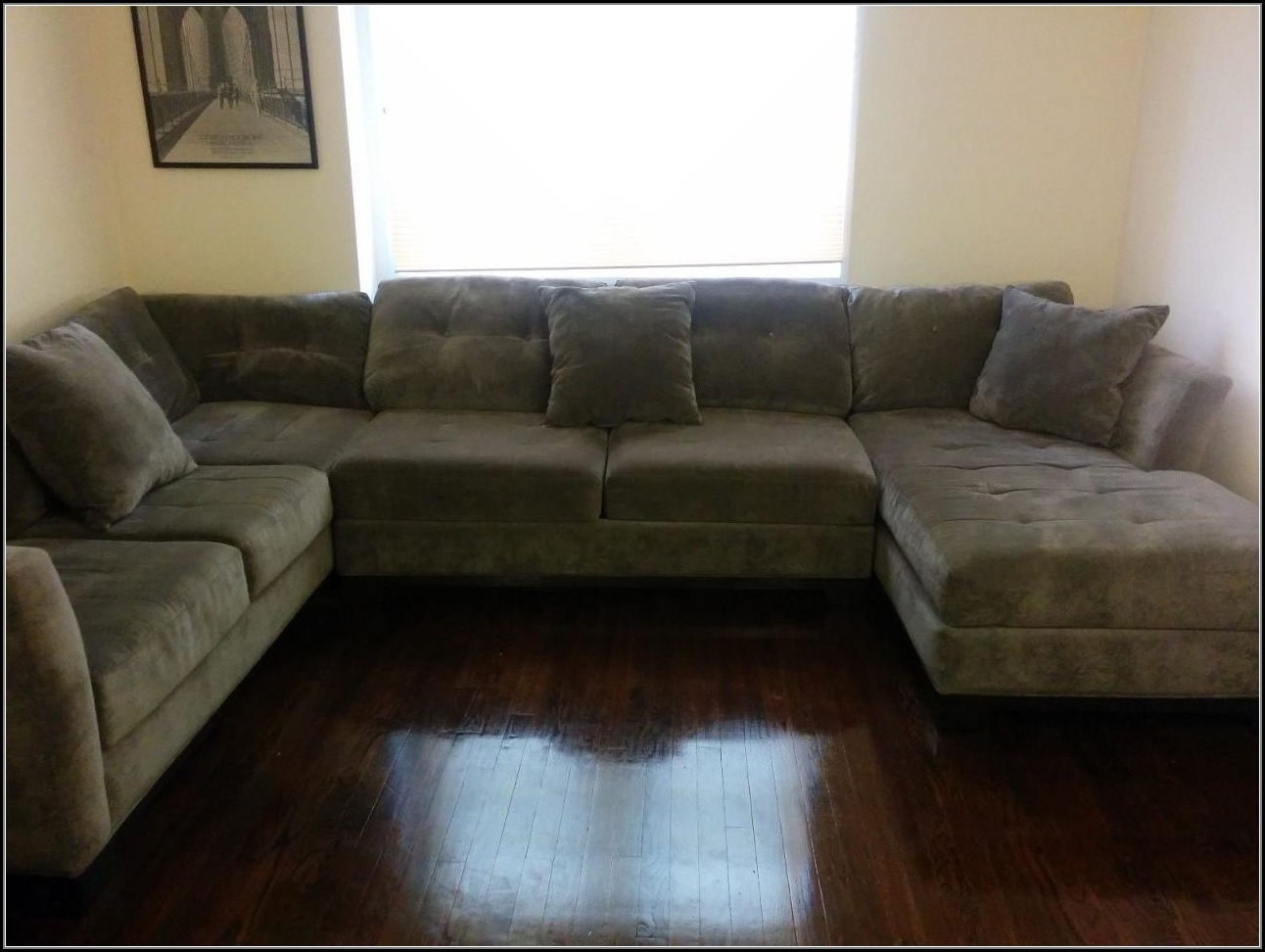 3 Piece Sectional Sofas With Chaise For Most Current 3 Piece Microfiber Sectional Sofa With Chaise – Sofa : Home (View 1 of 15)