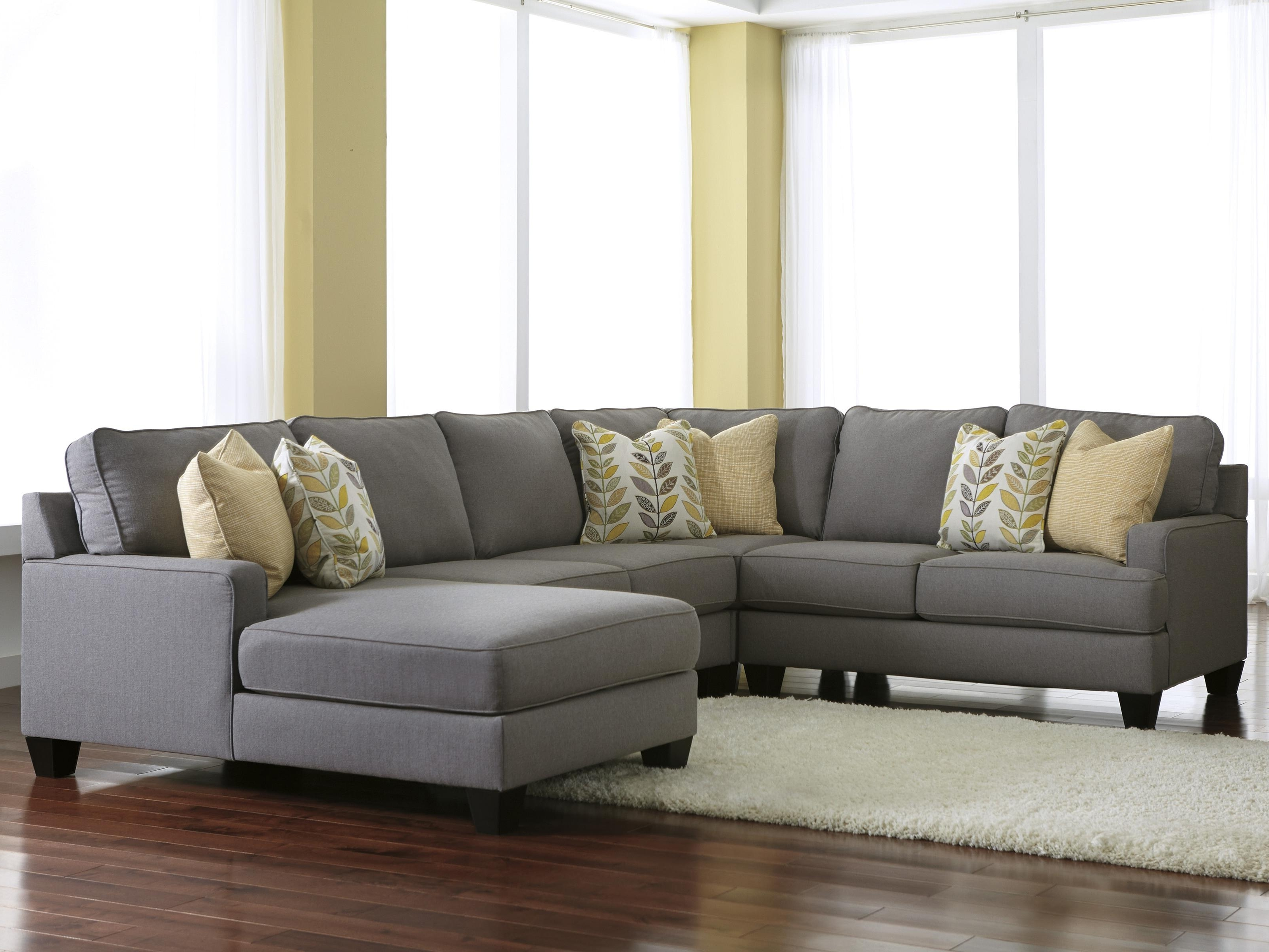 3 Piece Sectional Sofas With Chaise With Regard To Favorite Signature Designashley Chamberly – Alloy Modern 4 Piece (View 12 of 15)