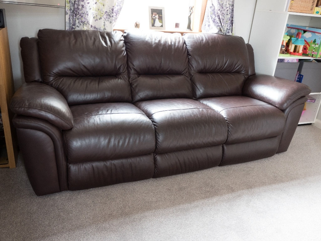 3 Seater Leather Sofas in 2018 3 Seater Brown Leather Sofa - Reid Furniture