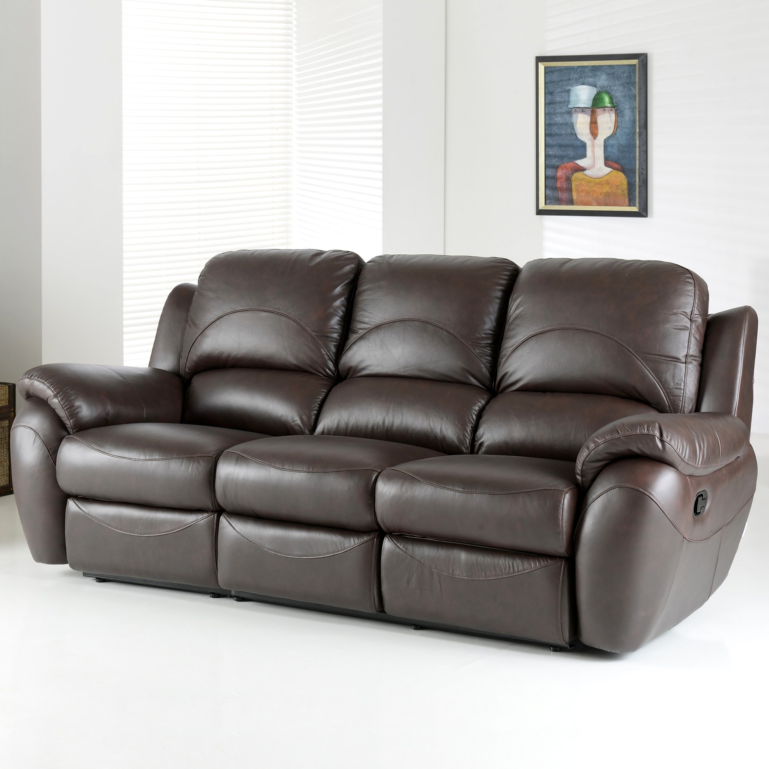 3 Seater Leather Sofas with regard to Well known 3 Seater Leather Recliner Sofa Image