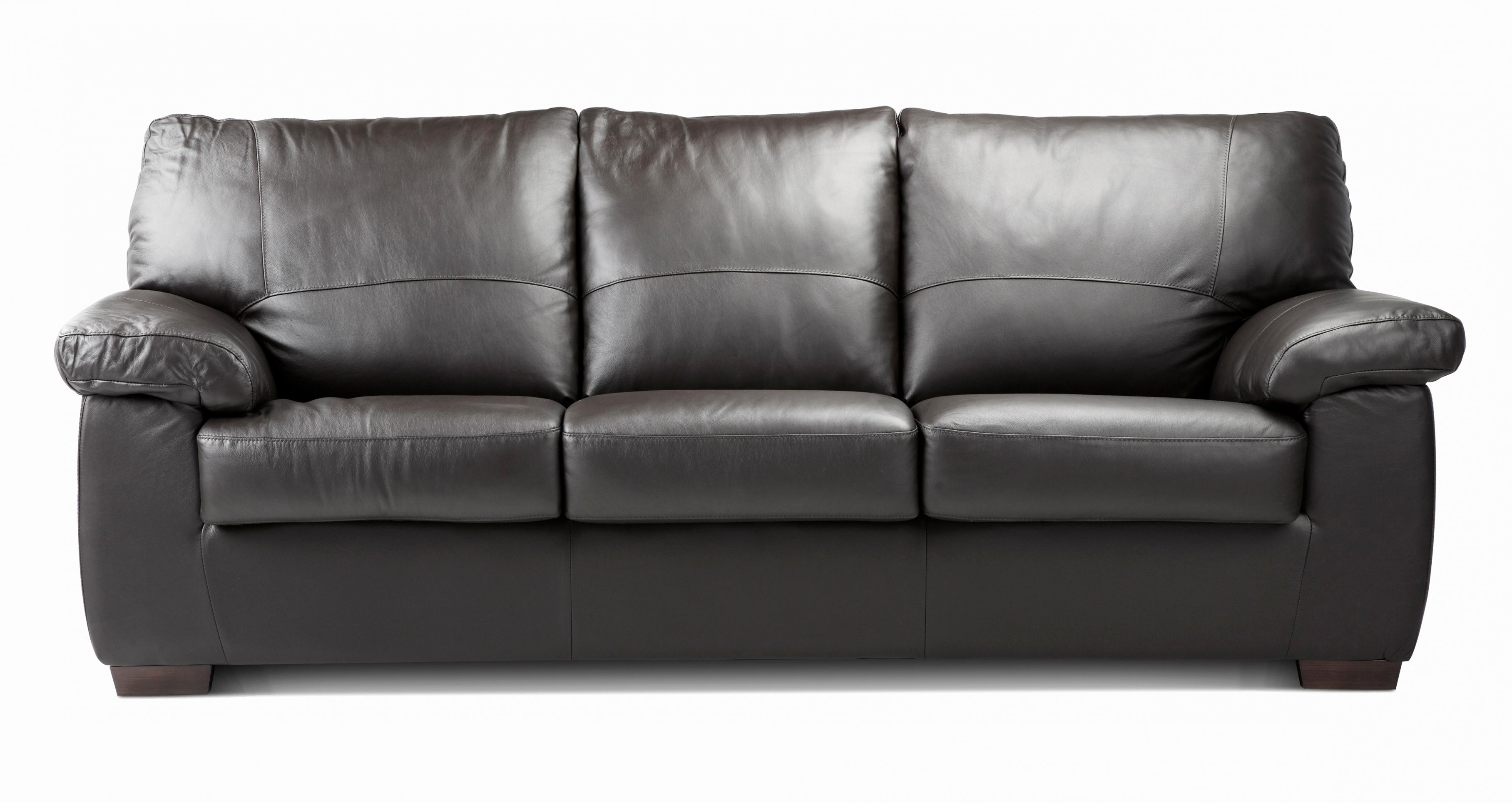 3 Seater Leather Sofas Within Most Recent 3 Seat Black Leather Sofa (View 7 of 15)