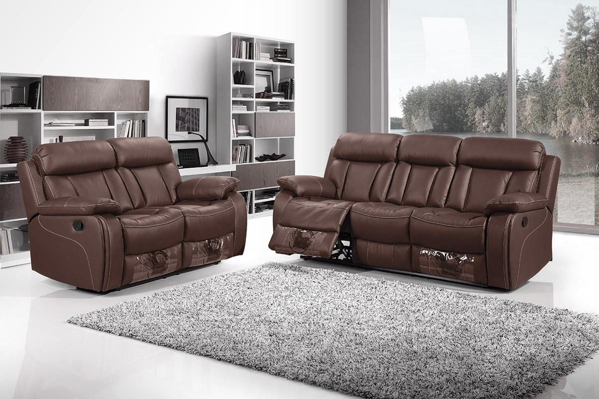 3 Seater Recliner Sofa Best Price 3 Seat Reclining Sofa With Cup Intended For Newest 2 Seater Recliner Leather Sofas (View 6 of 15)