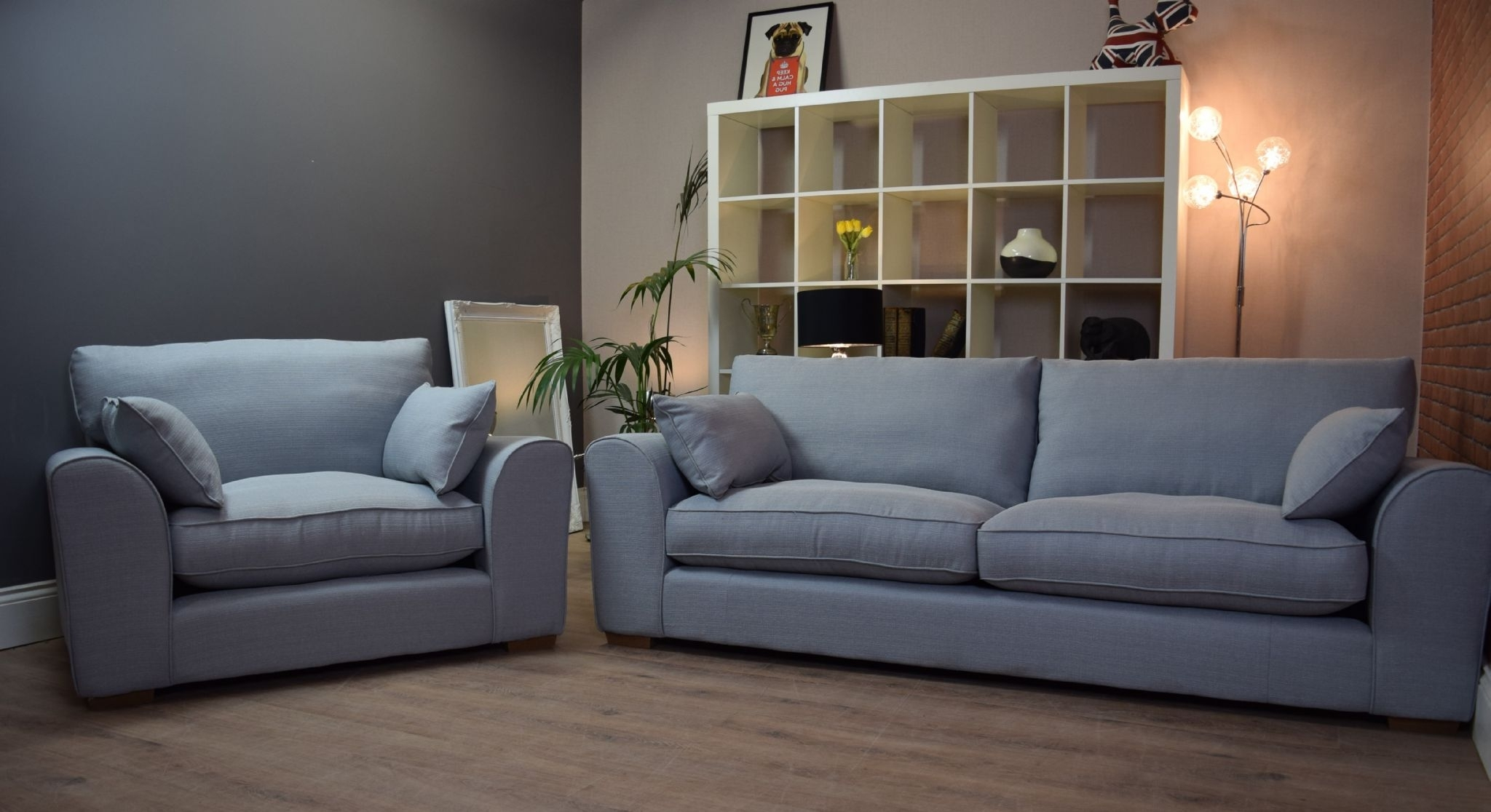 3 Seater Sofas And Cuddle Chairs With Regard To Most Current Set New Ashdown 3 Seater Sofa & Cuddle Chair Set – Duck Egg Blue (View 5 of 15)