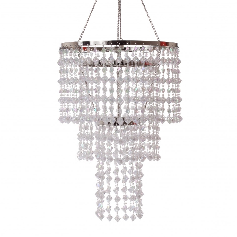 3 Tier Gemstone Crystal Chandelier with regard to Most Current 3 Tier Crystal Chandelier