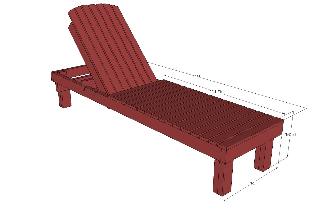 $35 Wood Chaise Lounges – Diy Projects (View 1 of 15)